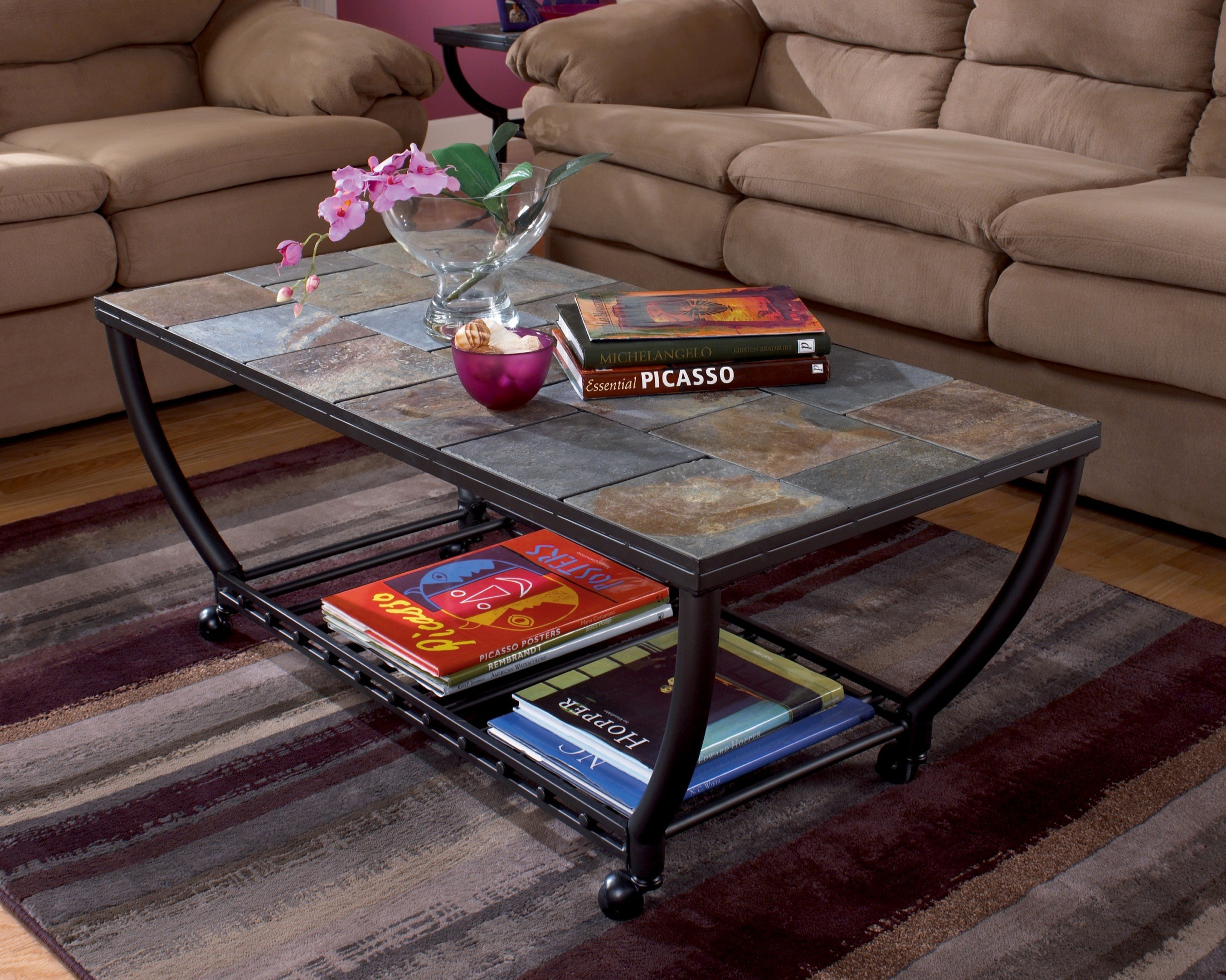 Antigo Cocktail Table With Casters From Ashley T233 0 Coleman Furniture