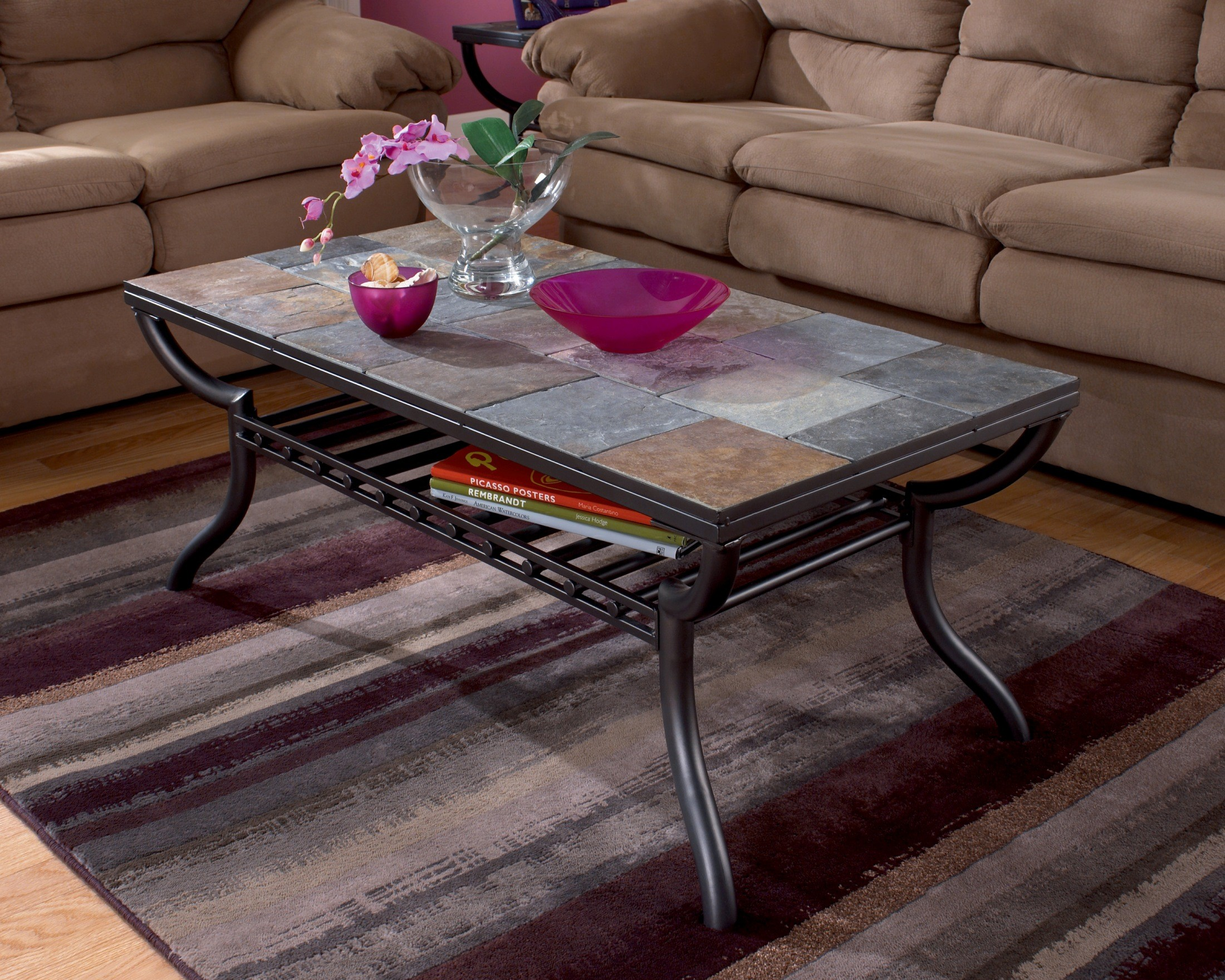 Antigo Rectangle Coffee Table from Ashley (T233-1) | Coleman Furniture