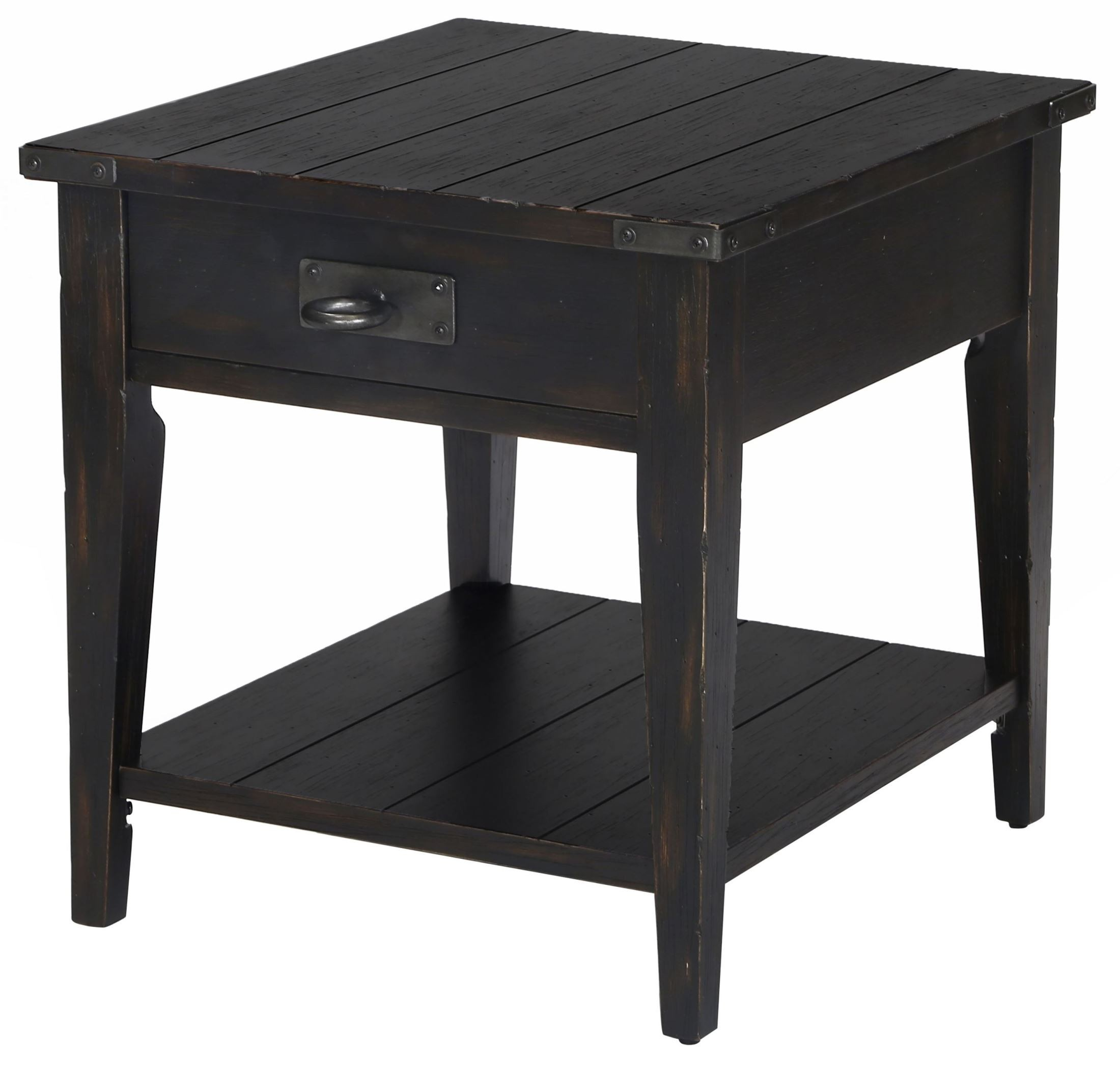 Black Coffee Table Sheffield: Sheffield Antique Black Rectangular End Table From