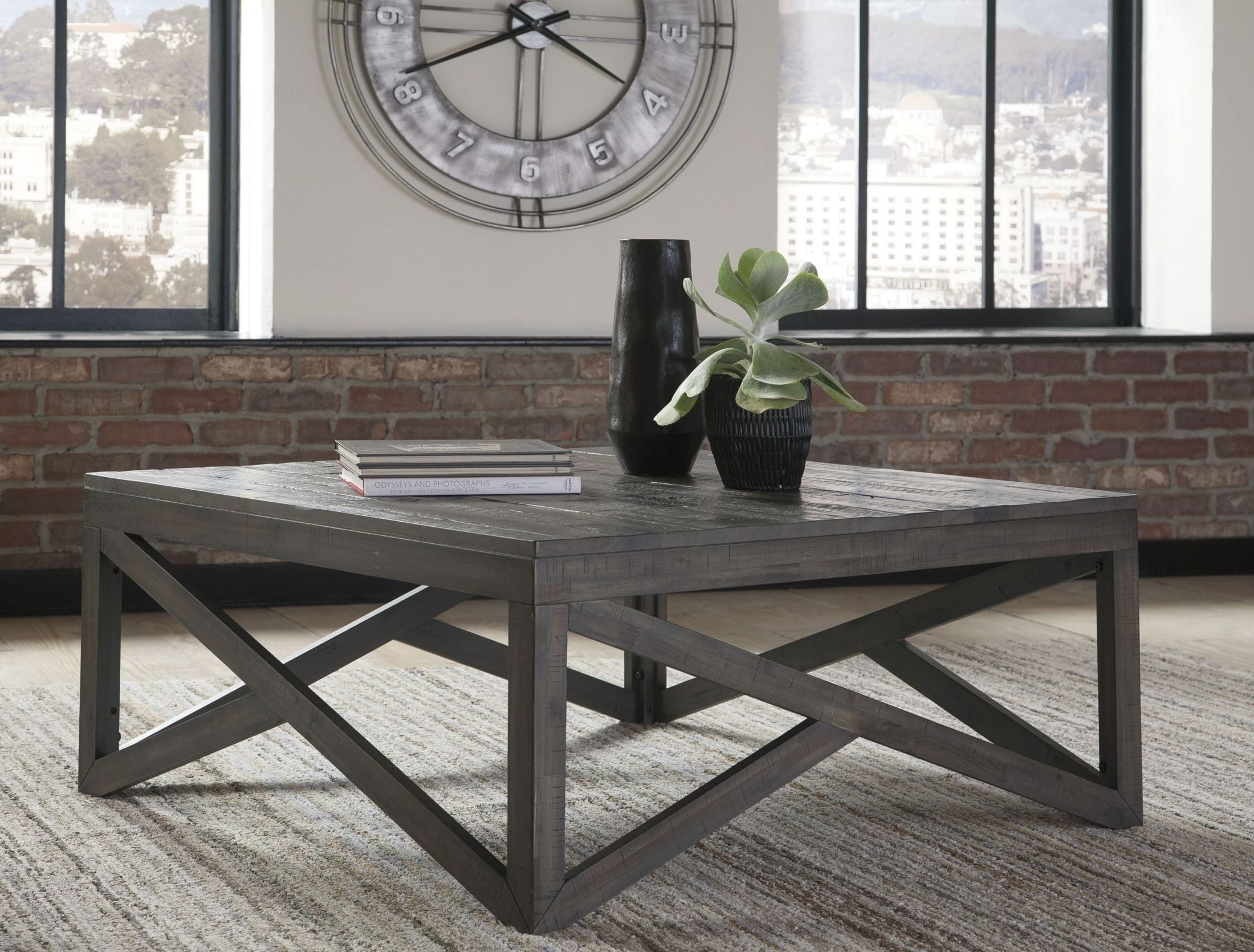 Haroflyn Gray Square Cocktail Table from Ashley