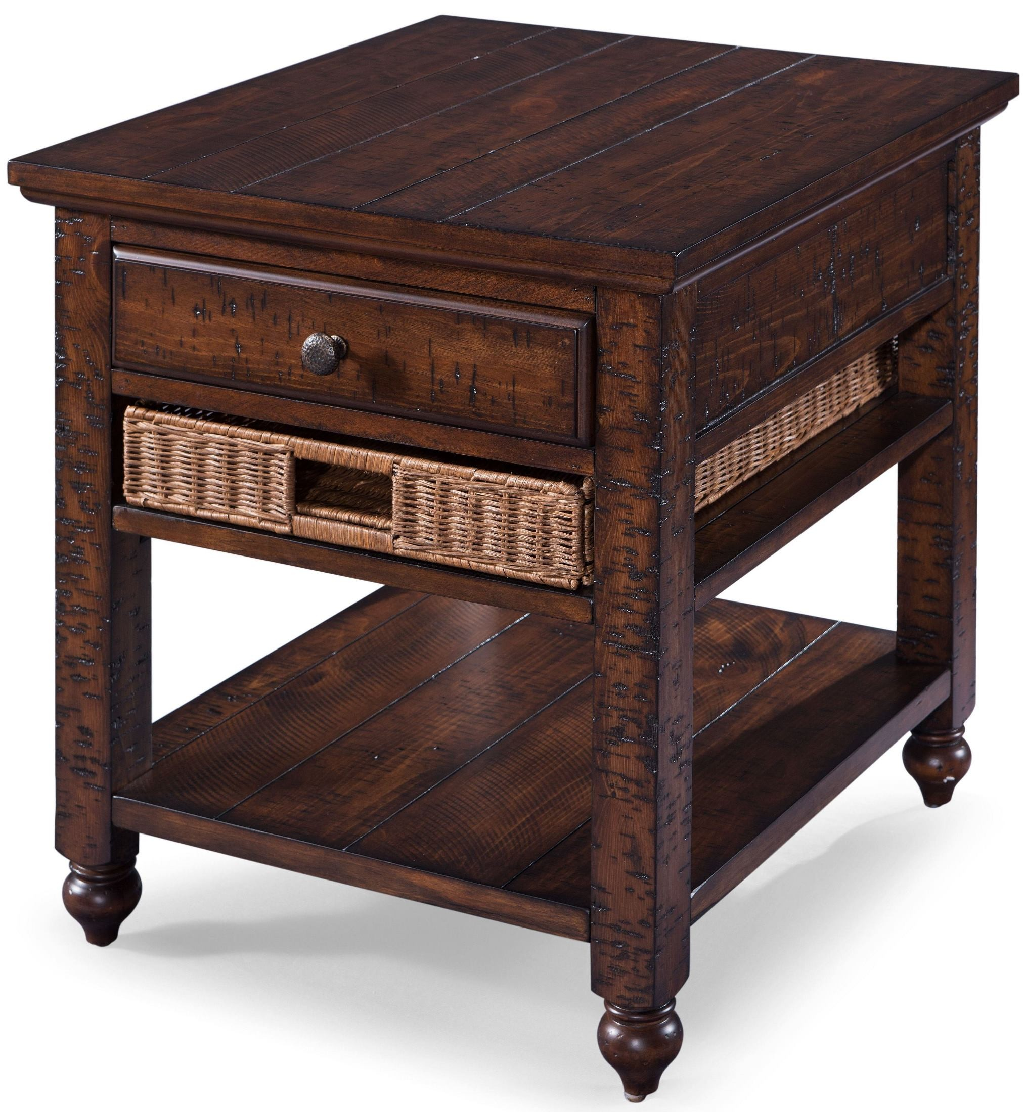 Cottage Lane Coffee Wood Rectangular End Table, T3521-03