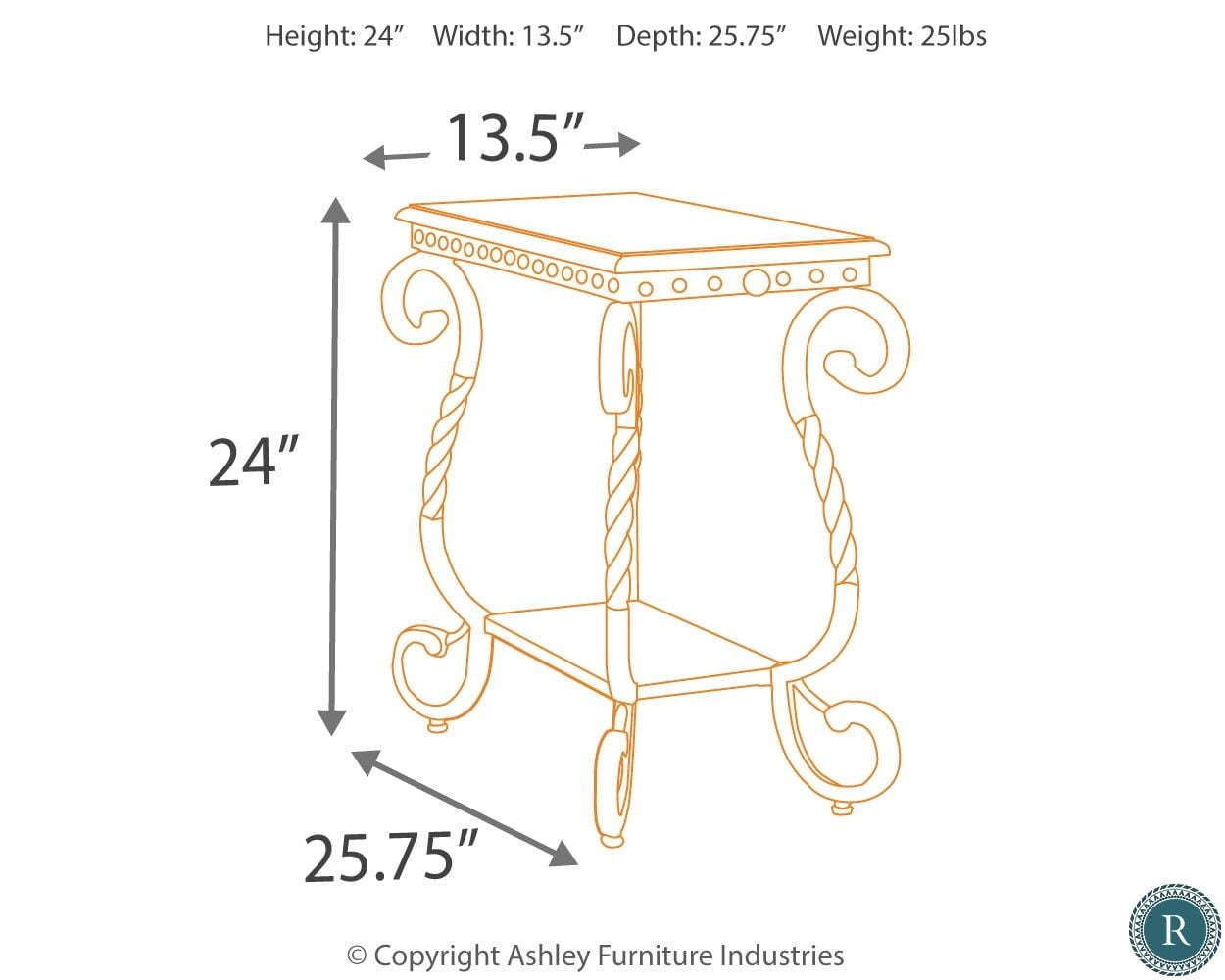 Stupendous Rafferty Chairside End Table Home Interior And Landscaping Eliaenasavecom