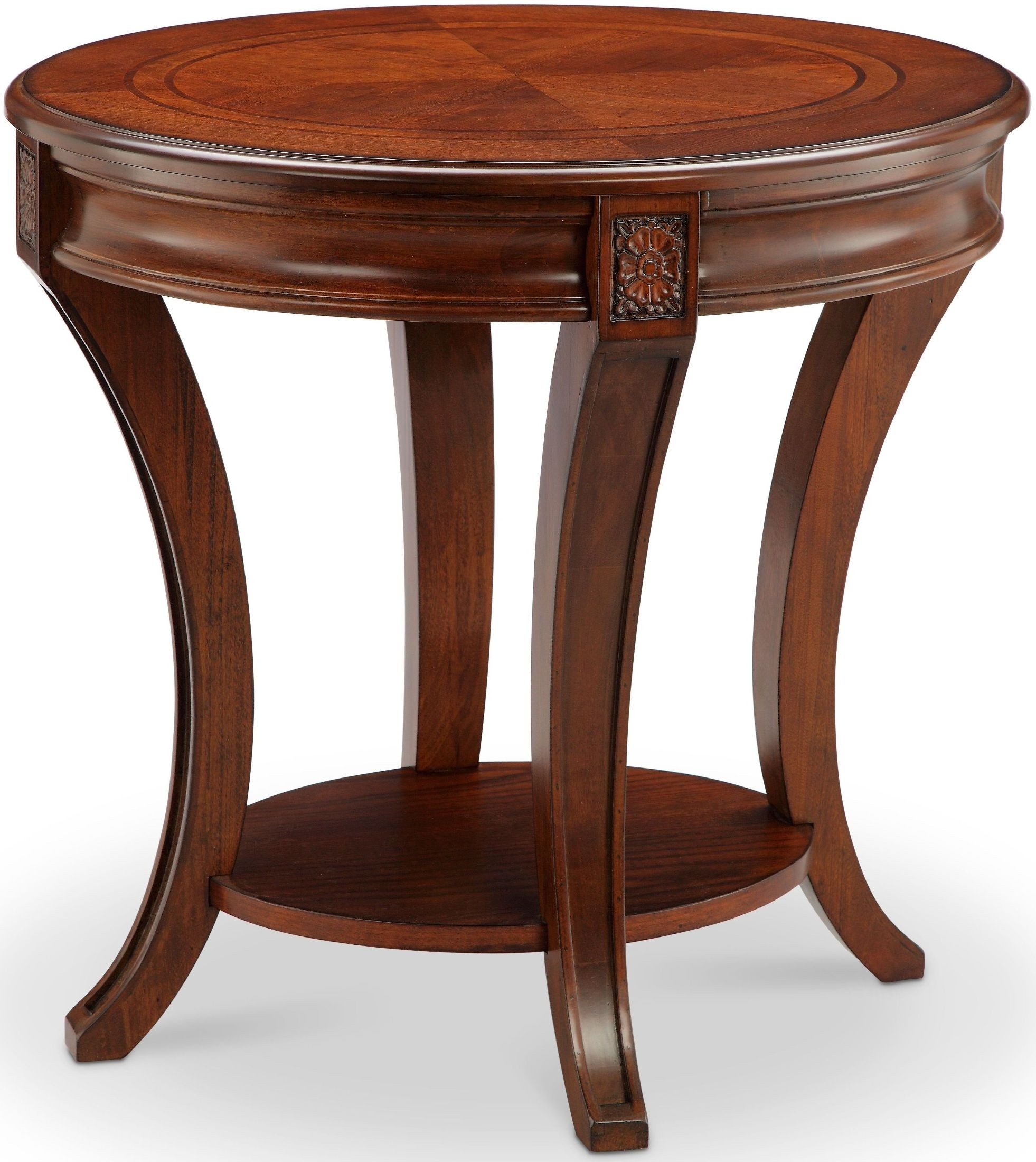 Cherry Side Table ~ Winslet cherry oval end table from magnussen home