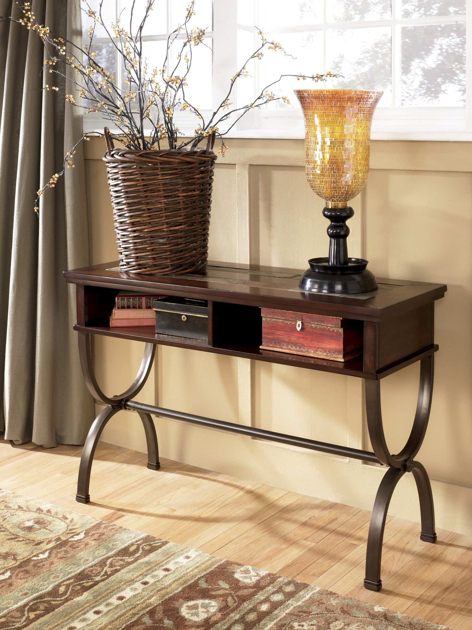 zander sofa console table