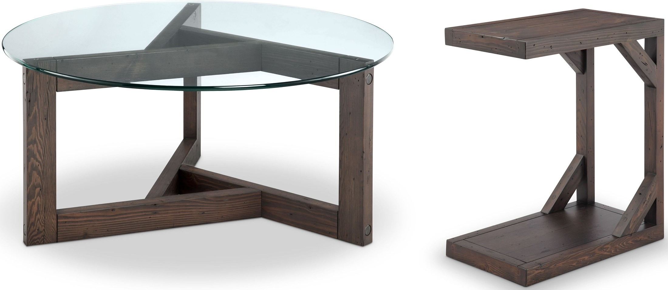 Beck Dark Chocolate Glass Demilune Sofa Table from Magnussen Home