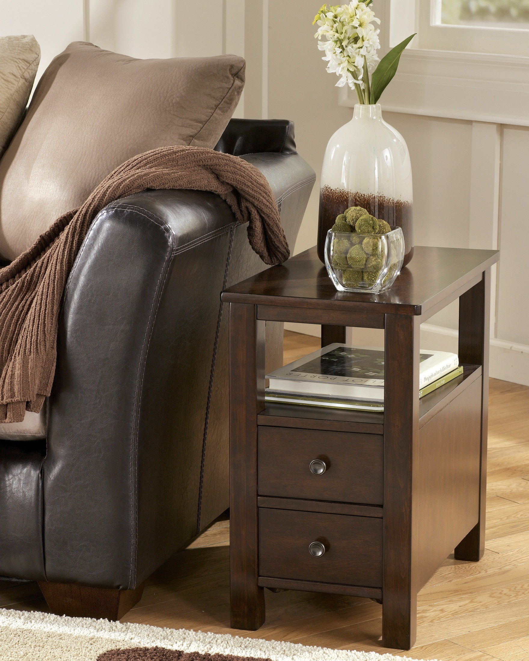 marion chairside cabinet table from ashley t477 7 coleman furniture. Black Bedroom Furniture Sets. Home Design Ideas