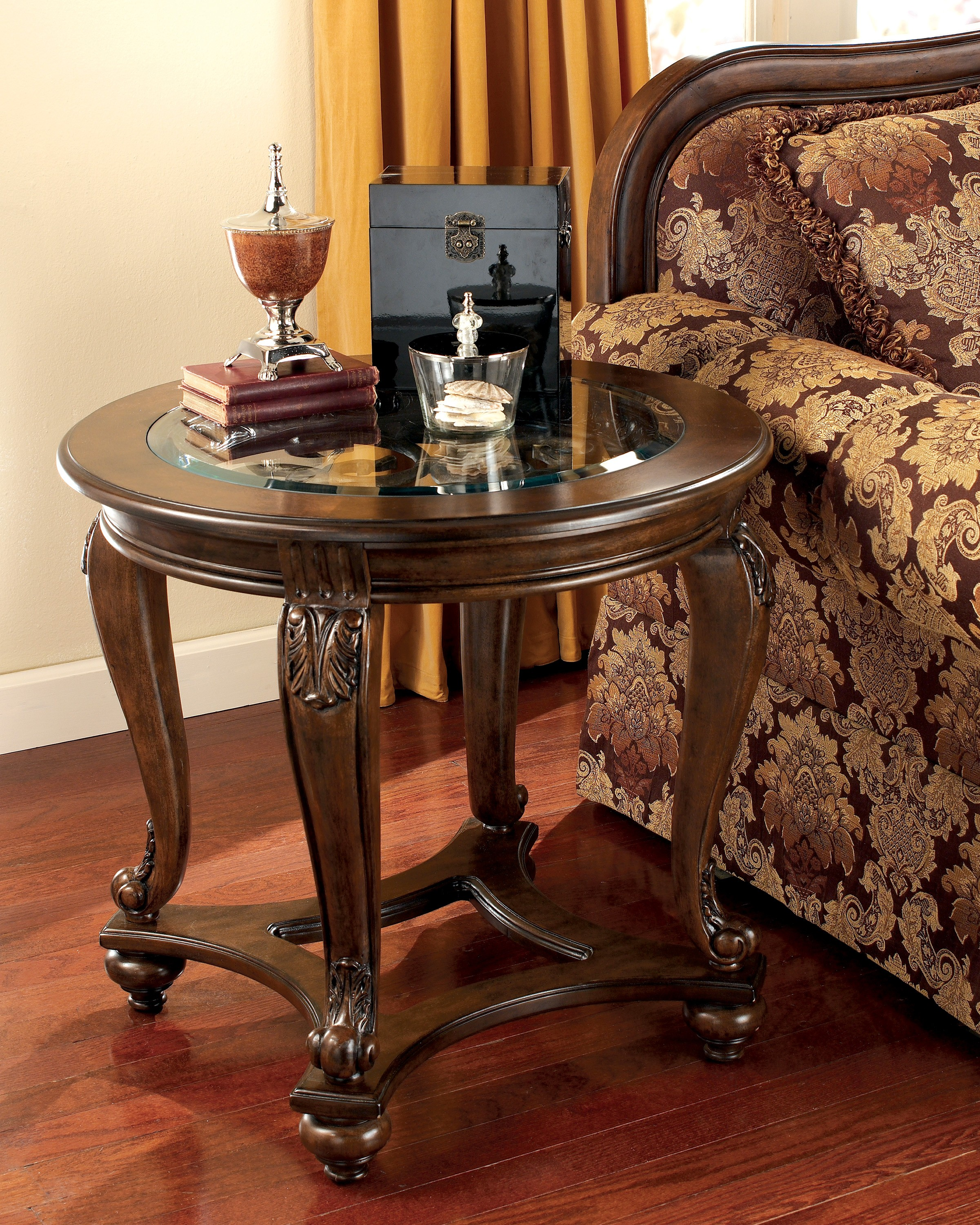 Norcastle end table from ashley t499 6 coleman furniture for Furniture fairbanks