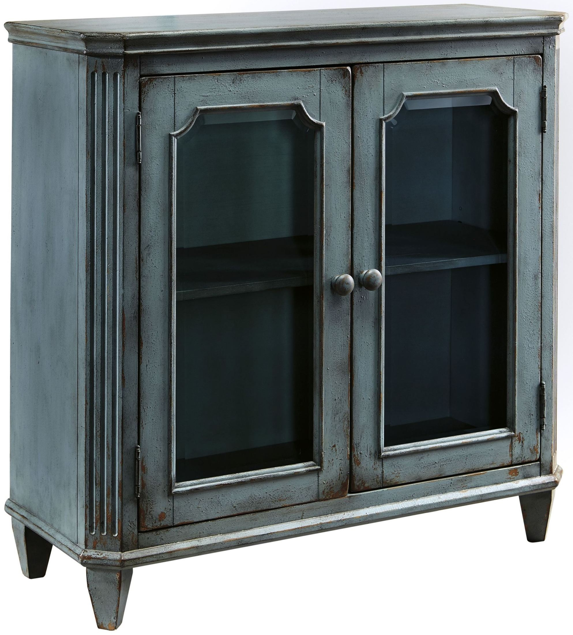 Mirimyn Antique Teal Accent Cabinet From Ashley Coleman