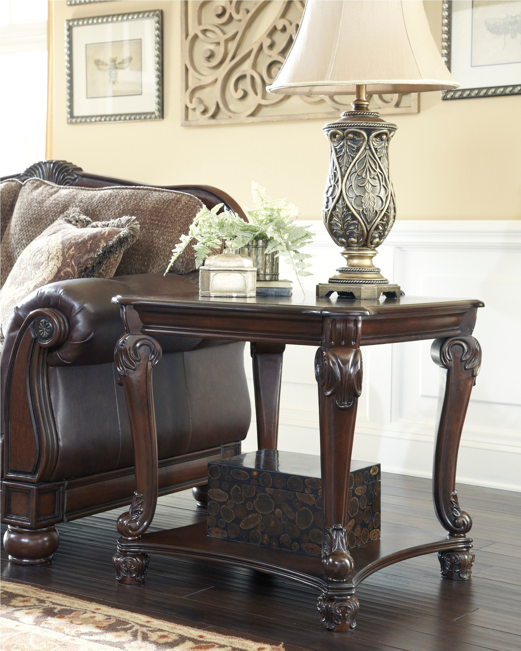 Ashley Coffee End Tables: Norcastle Square End Table From Ashley (T519-2)
