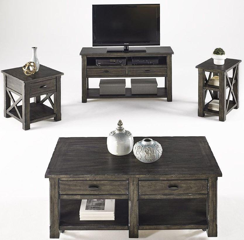Crossroads Smokey Grey Occasional Table Set From Progressive Furniture Coleman Furniture