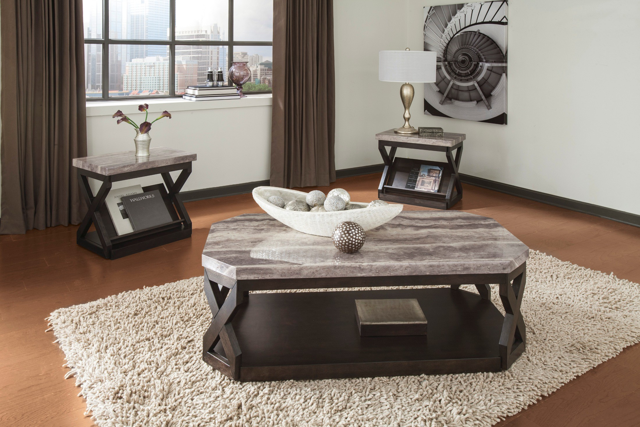 Radilyn 3-in-1 Occasional Table Set from Ashley (T568-13) | Coleman ...