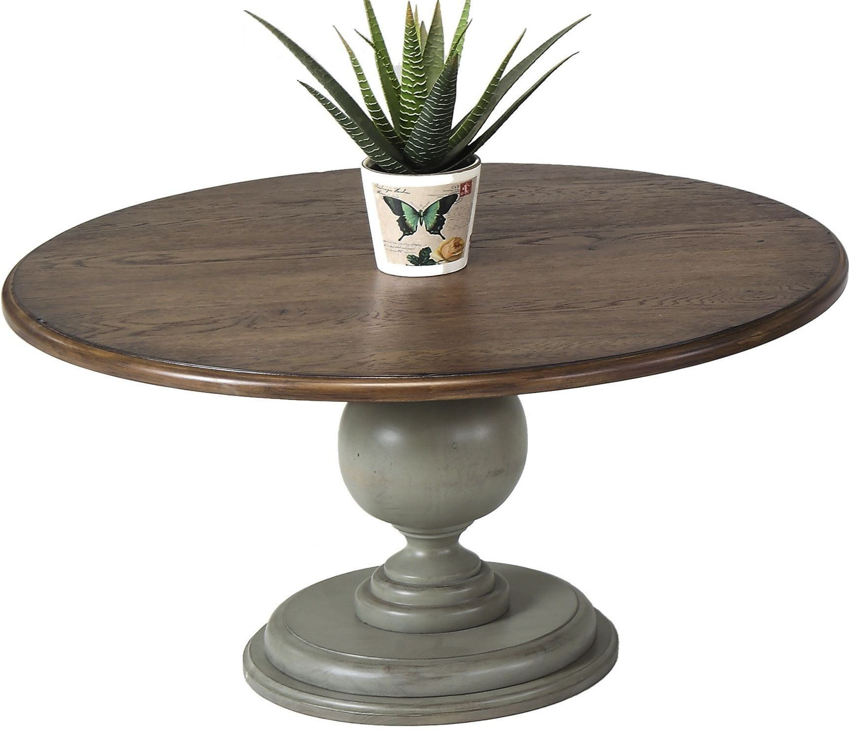 Colonnades weathered grey and oak round cocktail table for Round weathered coffee table
