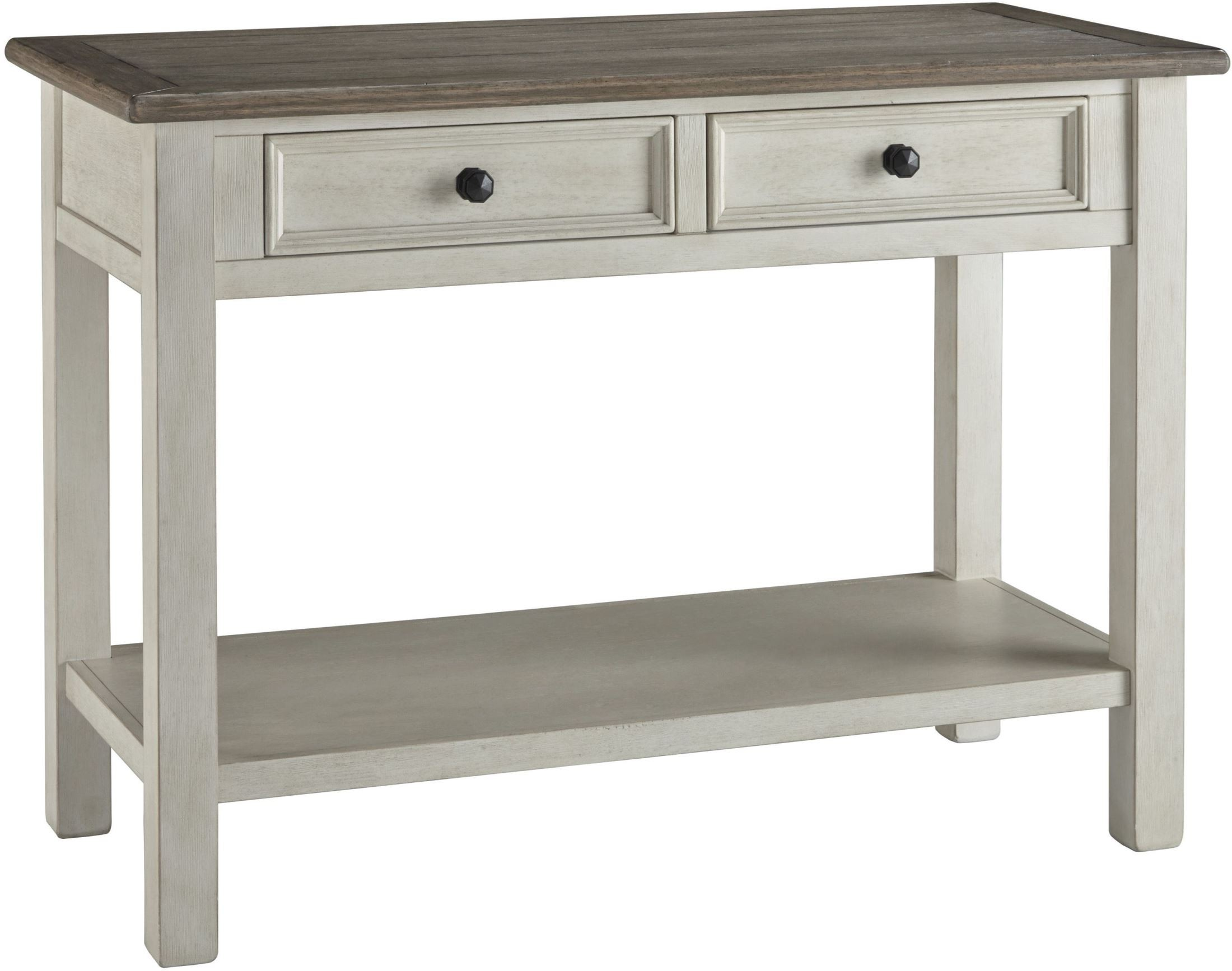 Bolanburg weathered gray sofa table from ashley coleman for Sofa table grey