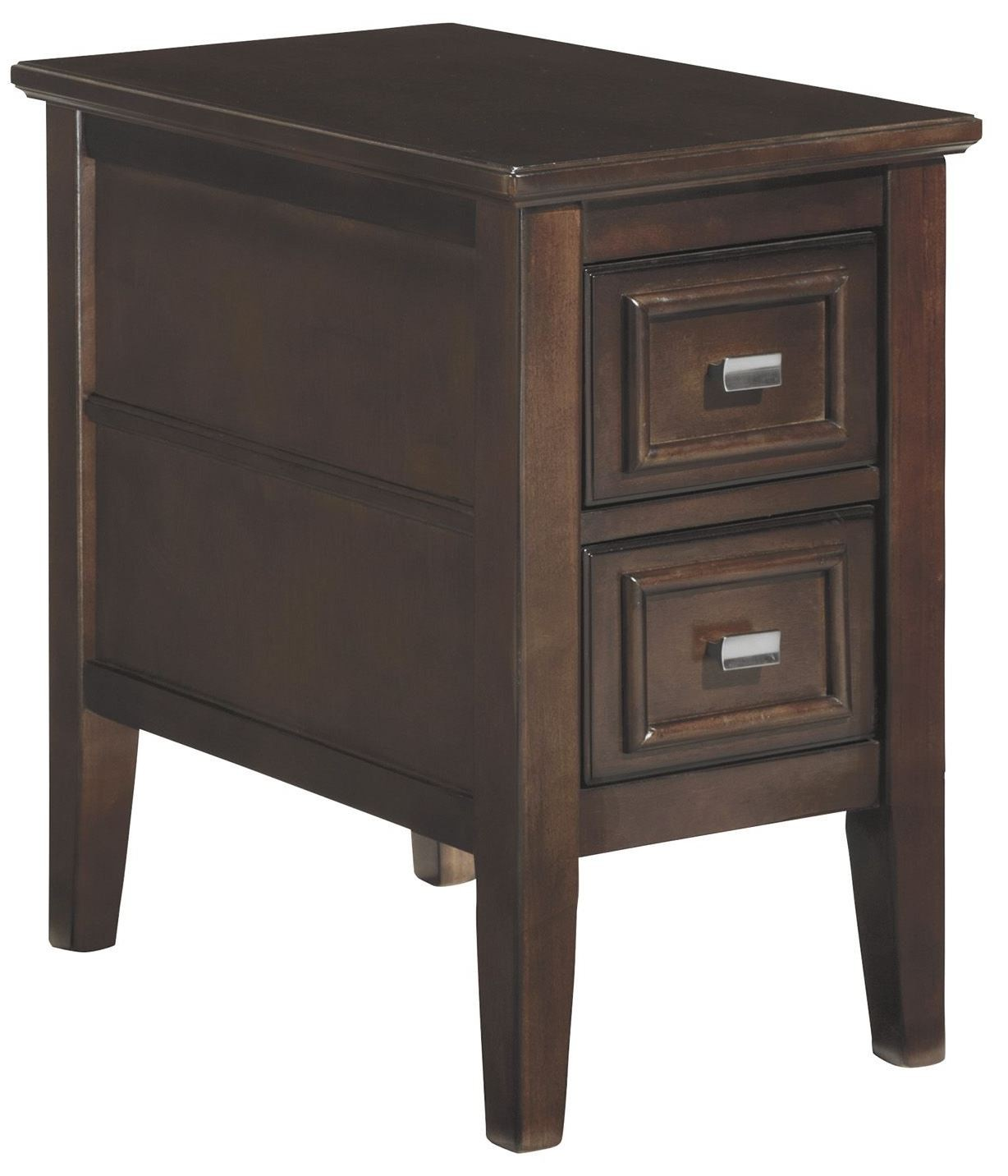 Larimer chairside end table from ashley t654 7 coleman for Chairside table