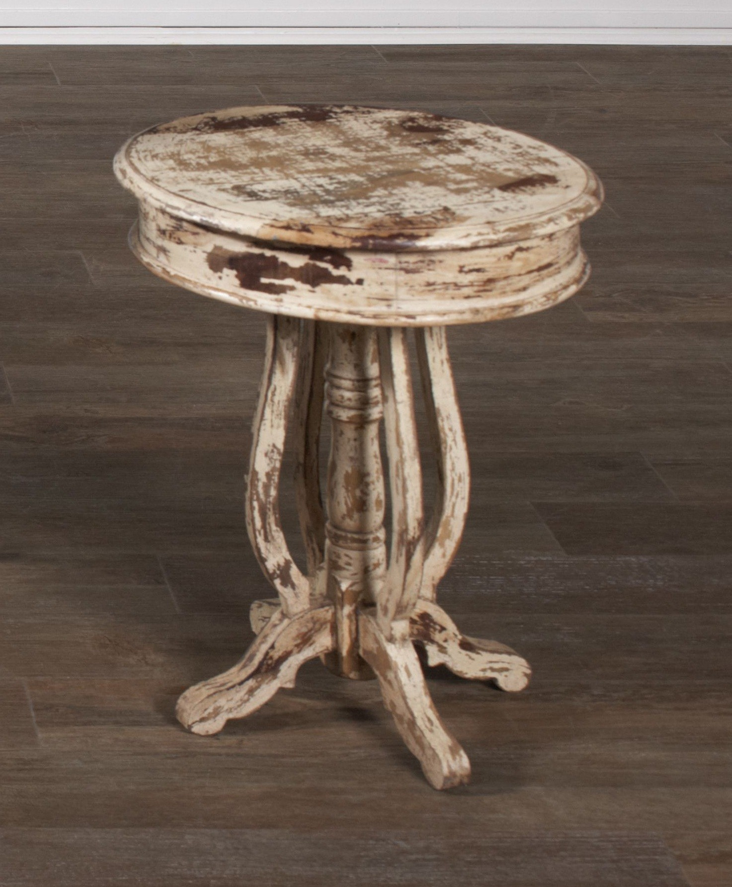 Jaipur Round Acacia End Table From Largo (T660-124