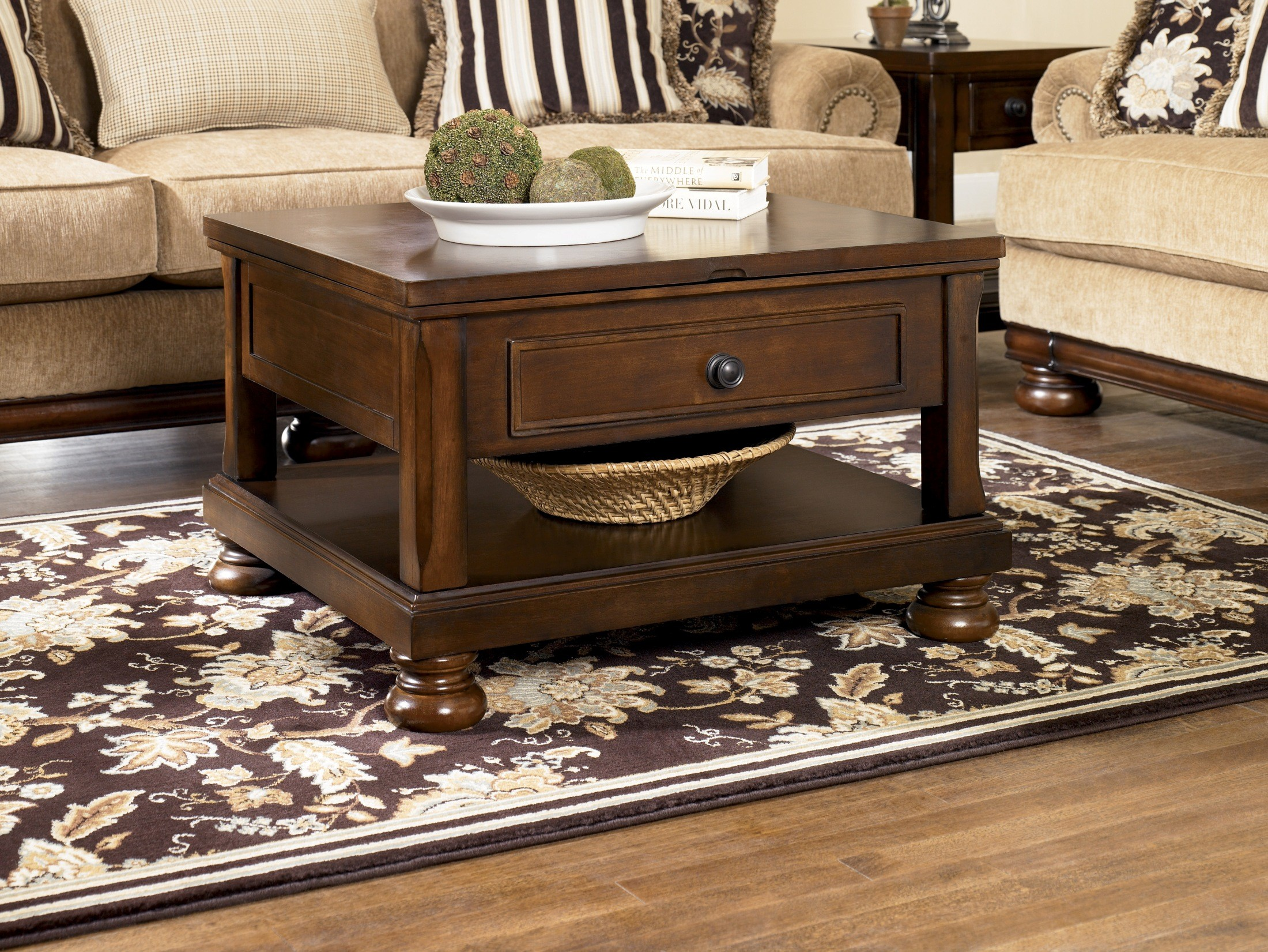Porter Rectangular Lift-Top Cocktail Table From Ashley