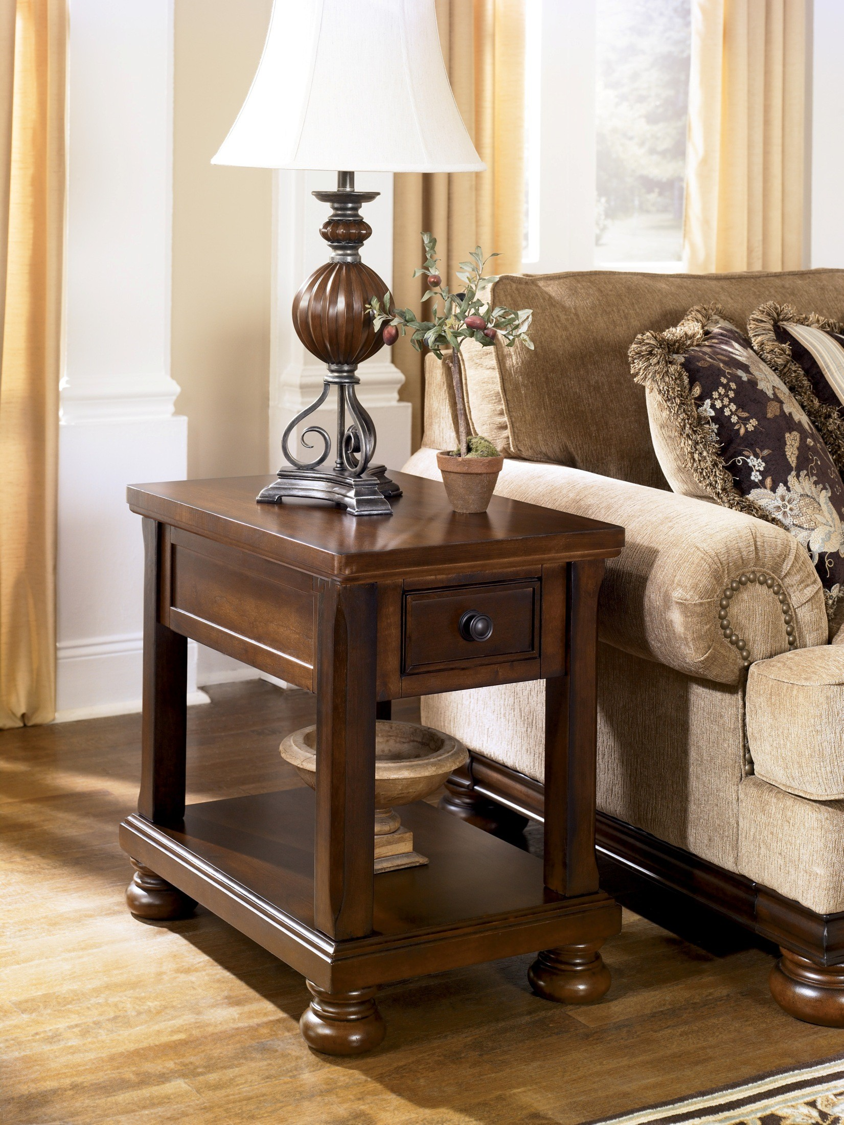 Porter Chairside End Table From Ashley T697 3 Coleman