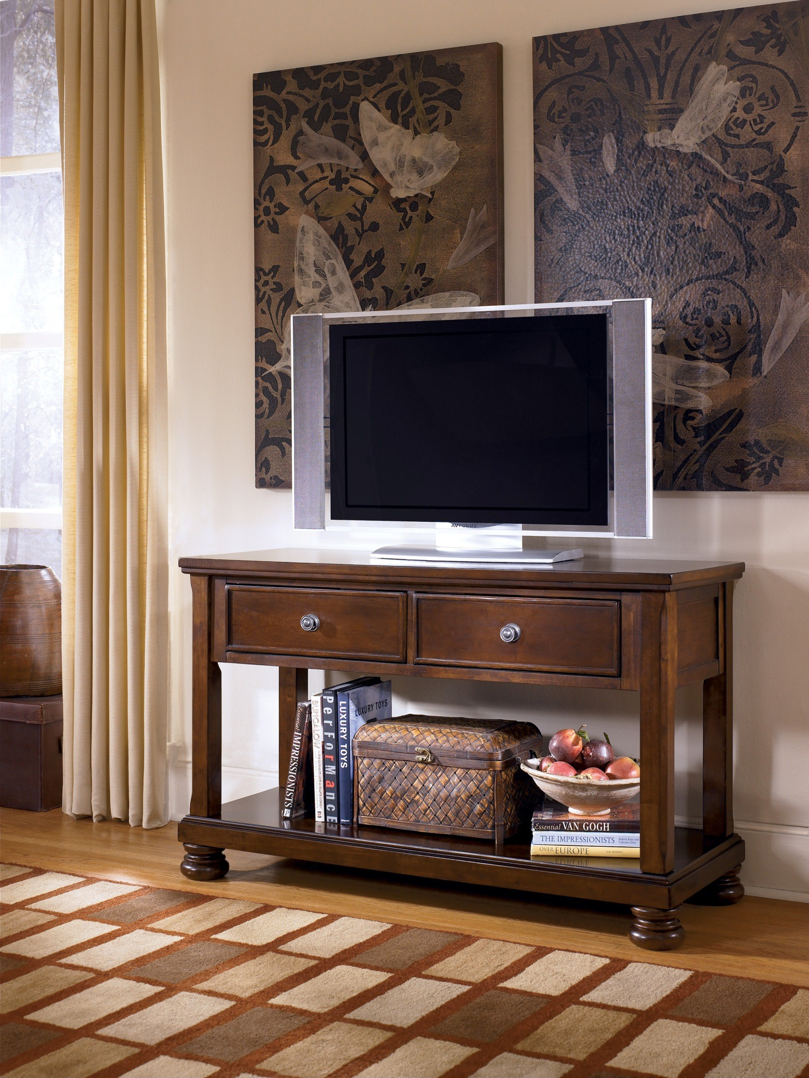 Porter Sofa Table Media Console From Ashley T697 4