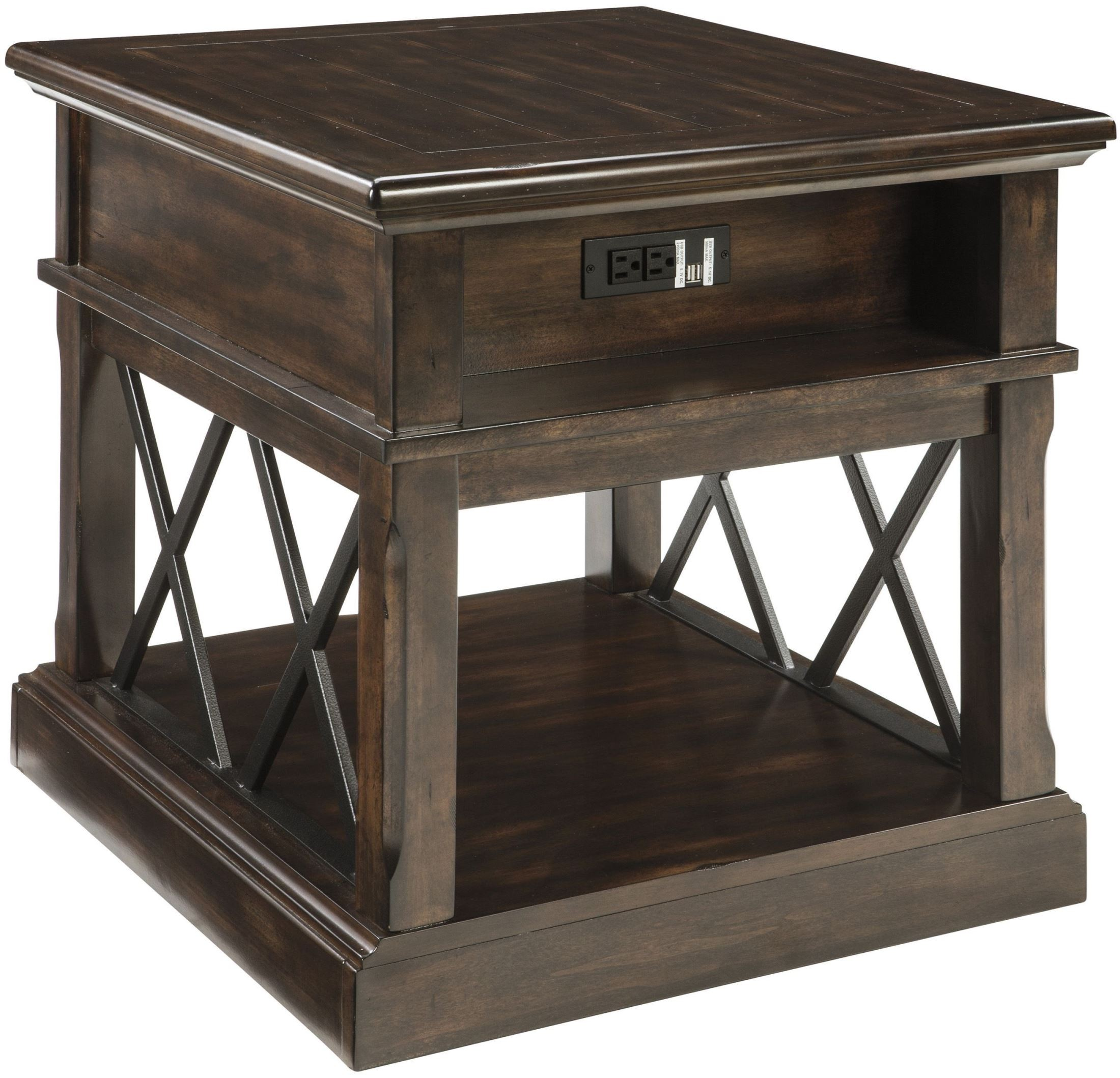 Roddinton Dark Brown Rectangular End Table from Ashley Coleman