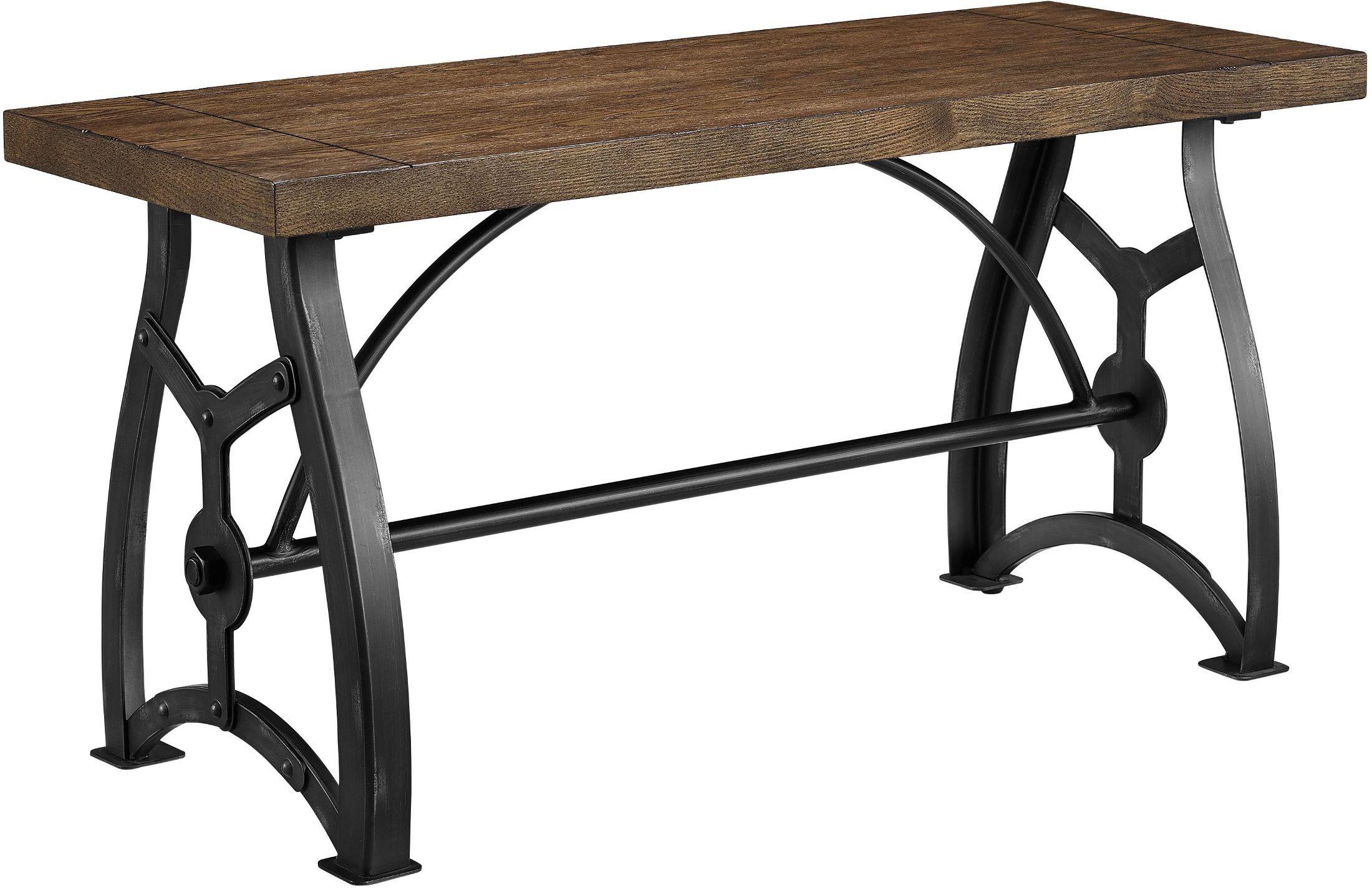 Rosebank Wood And Metal Dining Bench From Pulaski Coleman Furniture