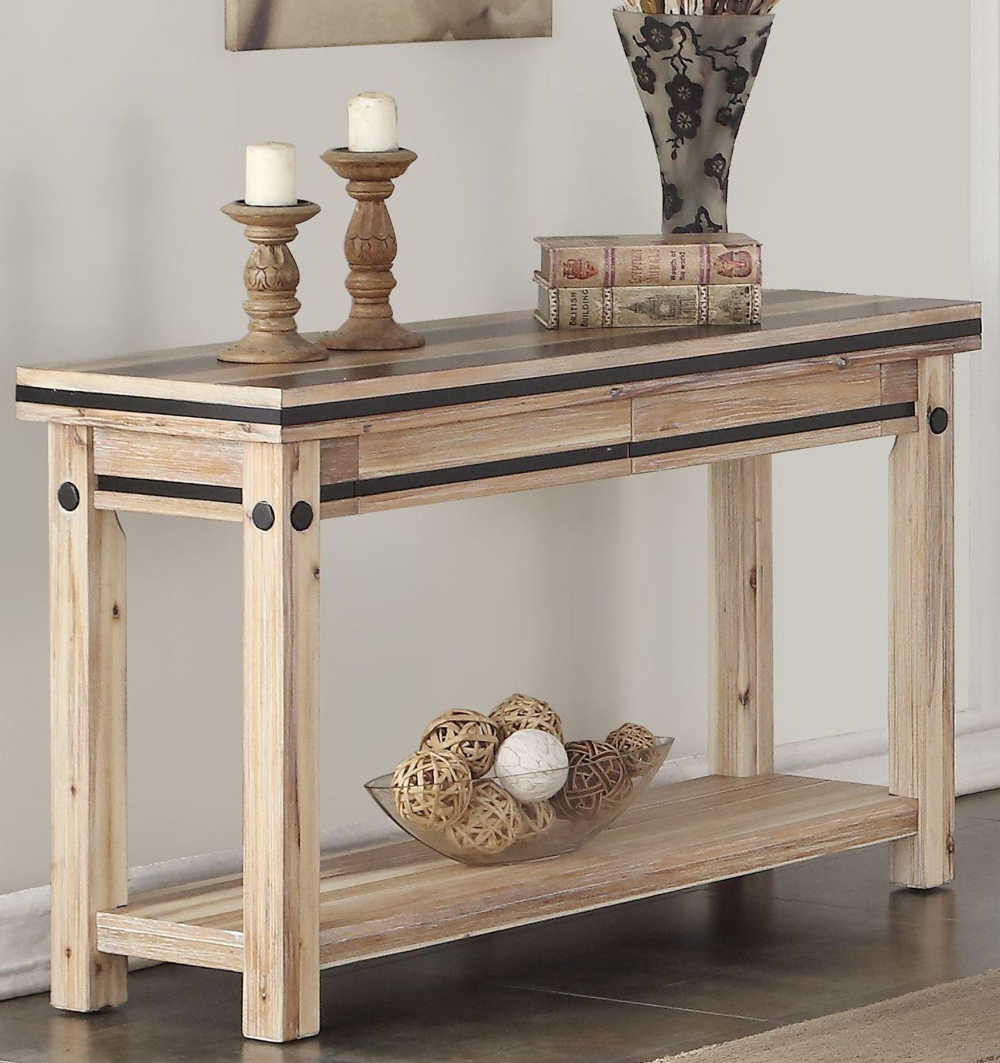 Boone distressed oak sofa table 2851345