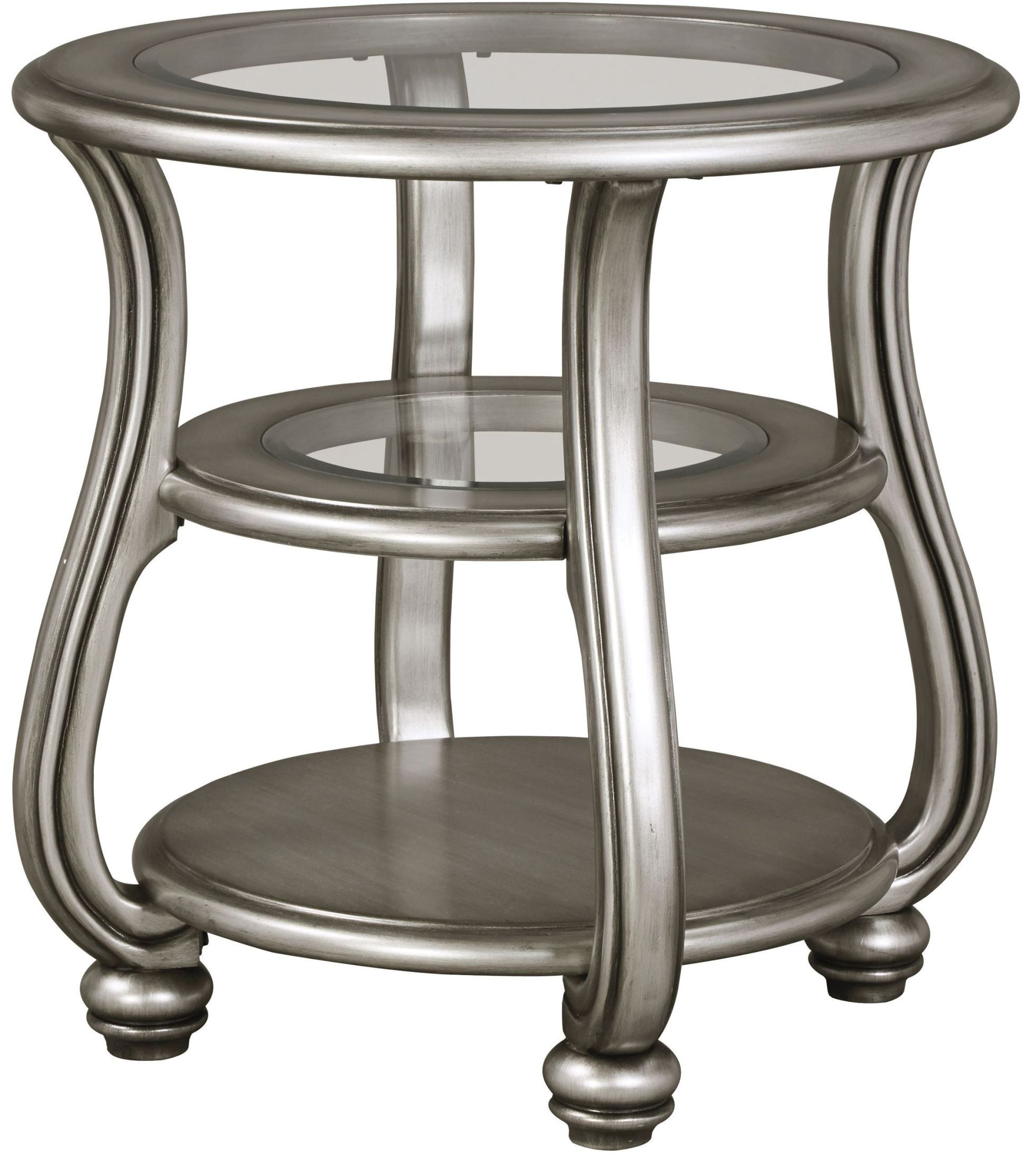 Coralayne Silver Round End Table From Ashley T820 6