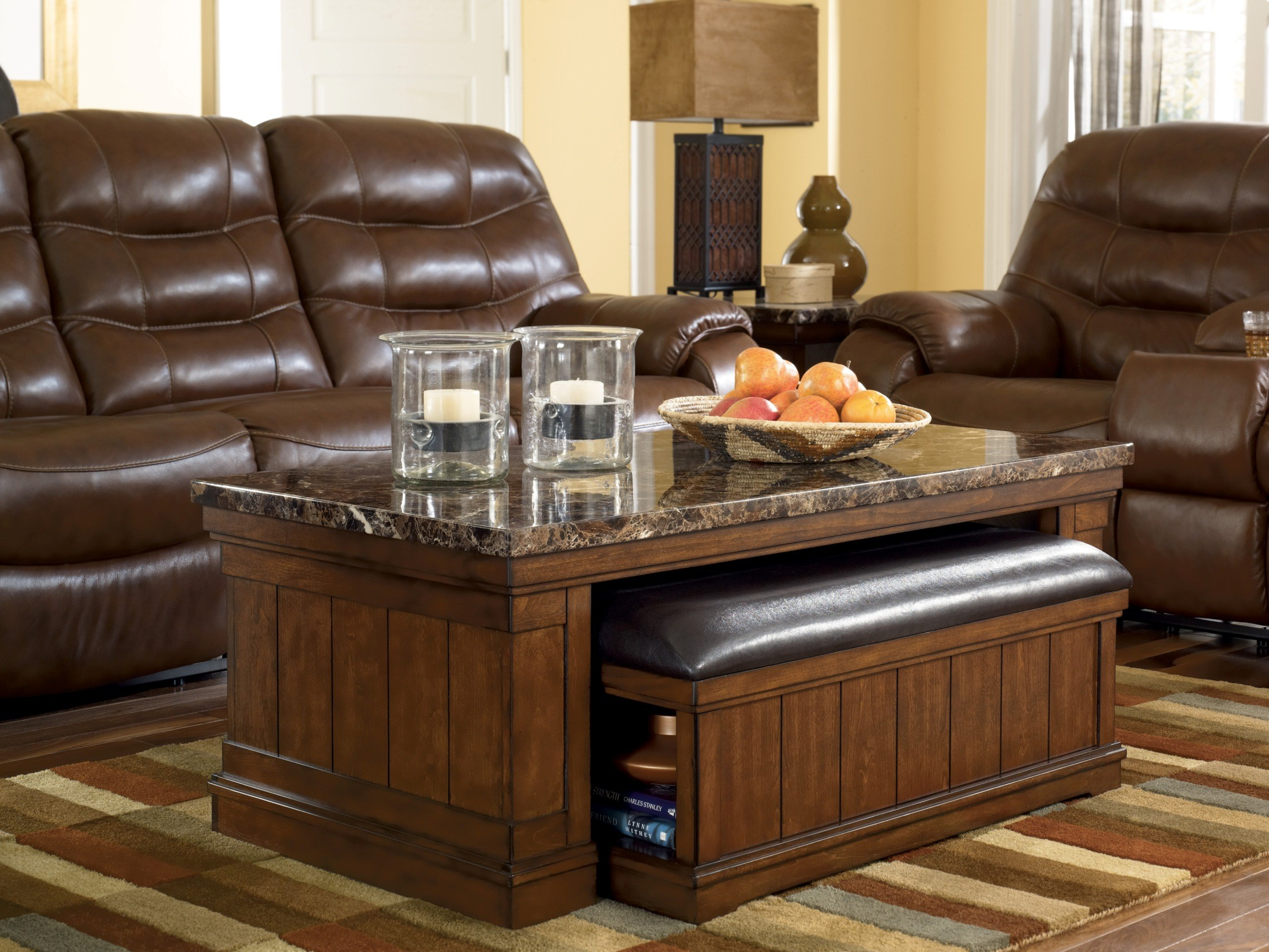 Merihill Cocktail Table With Ottoman 2 Piece Set From