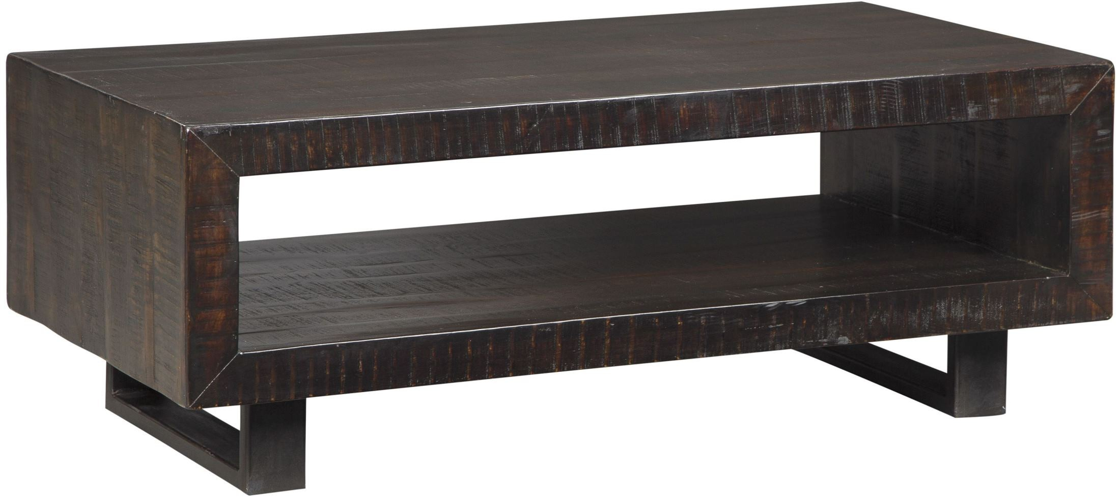Parlone deep brown rectangular cocktail table from ashley for K furniture coffee table