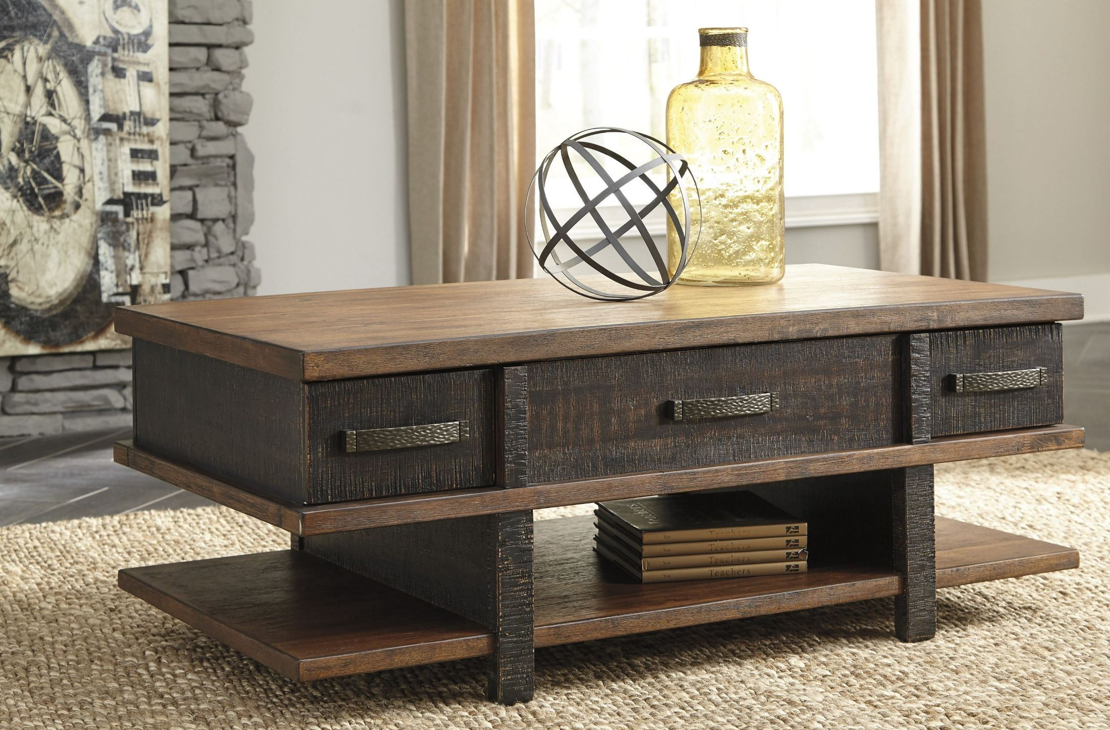 Stanah Two tone Lift Top Cocktail Table from Ashley
