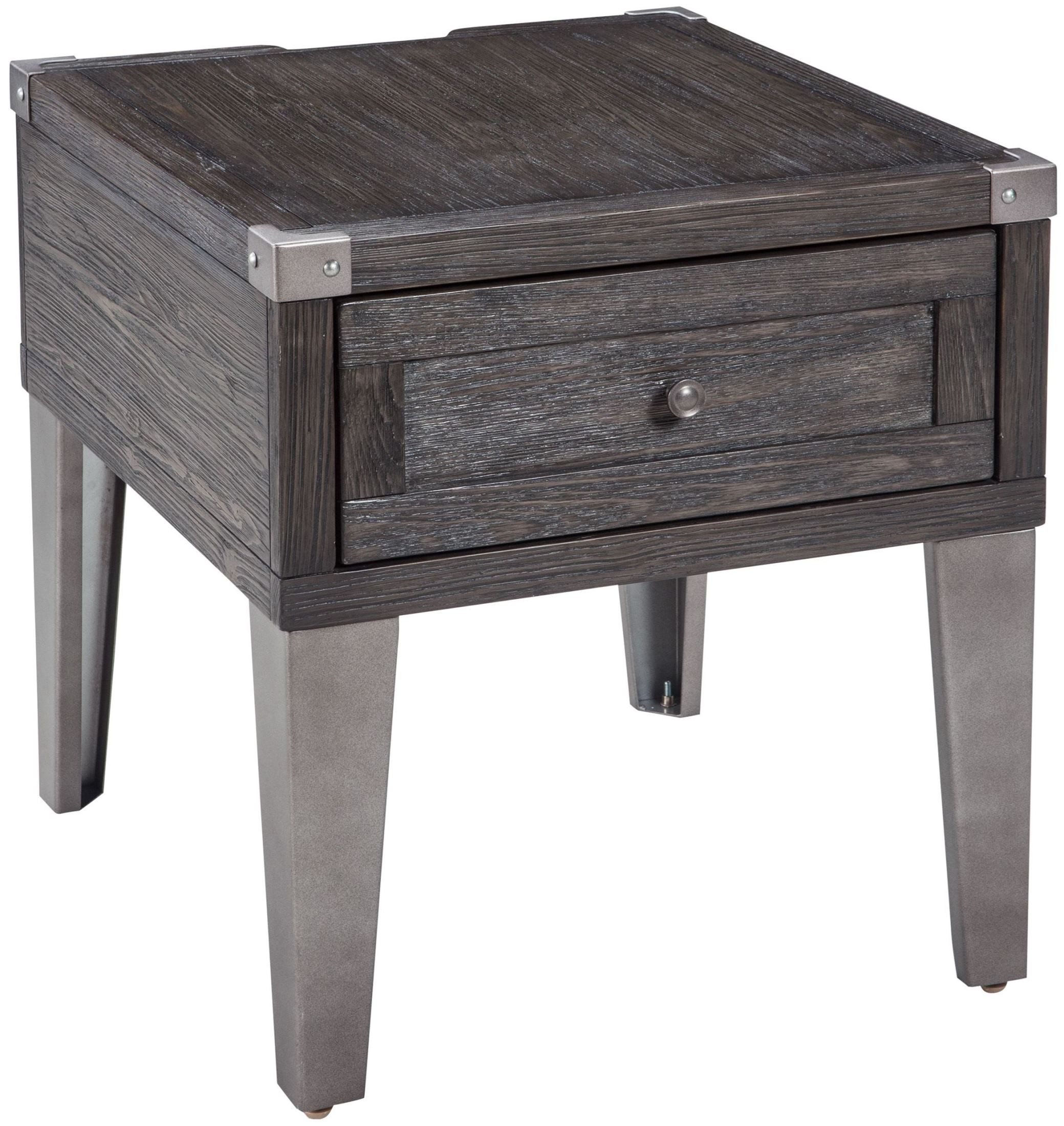 Todoe Dark Gray Rectangular End Table From Ashley