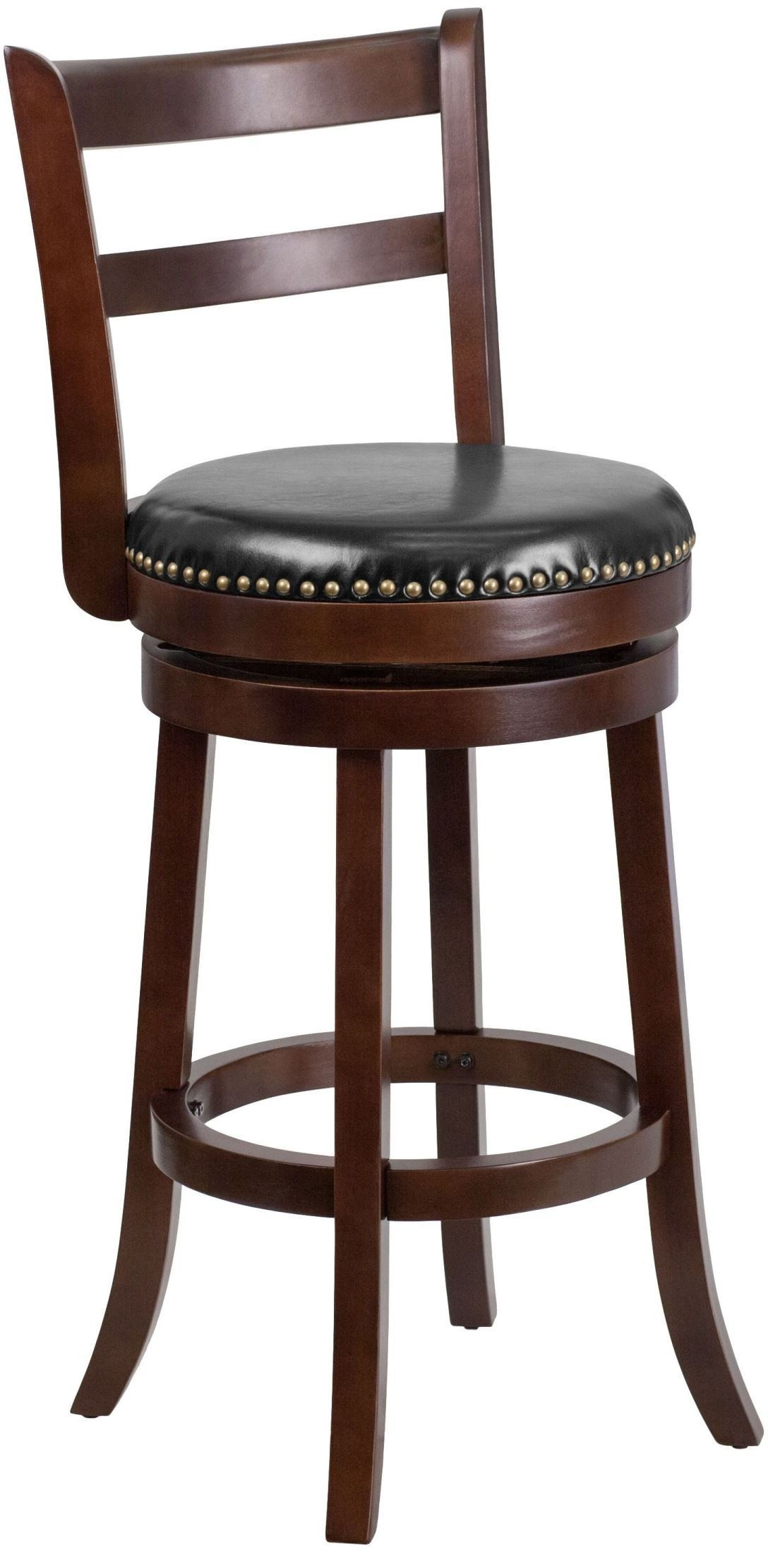 30inch Black Swivel Cappuccino Bar Stool From Renegade