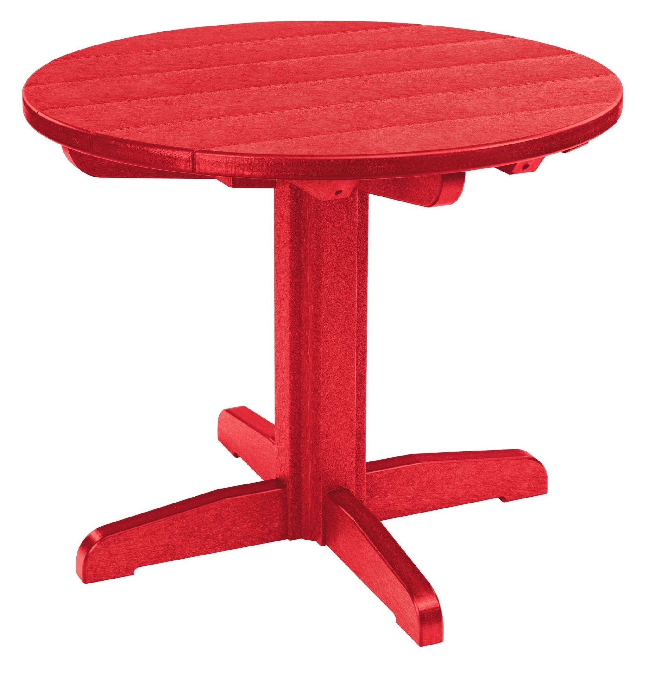 "Red Round Dining Table: Generations Red 32"" Round Pedestal Dining Table From CR"