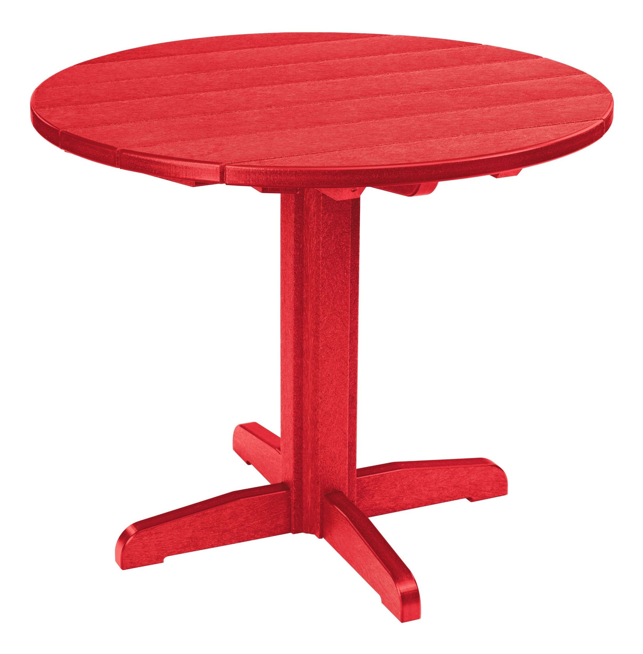 "Red Round Dining Table: Generations Red 37"" Round Pedestal Dining Table From CR"
