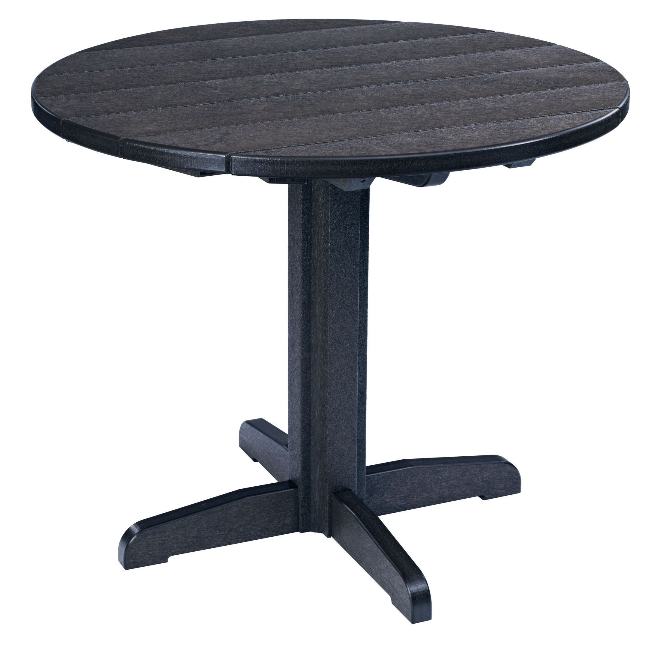 """Round Black Dining Table: Generations Black 37"""" Round Pedestal Dining Table From CR"""