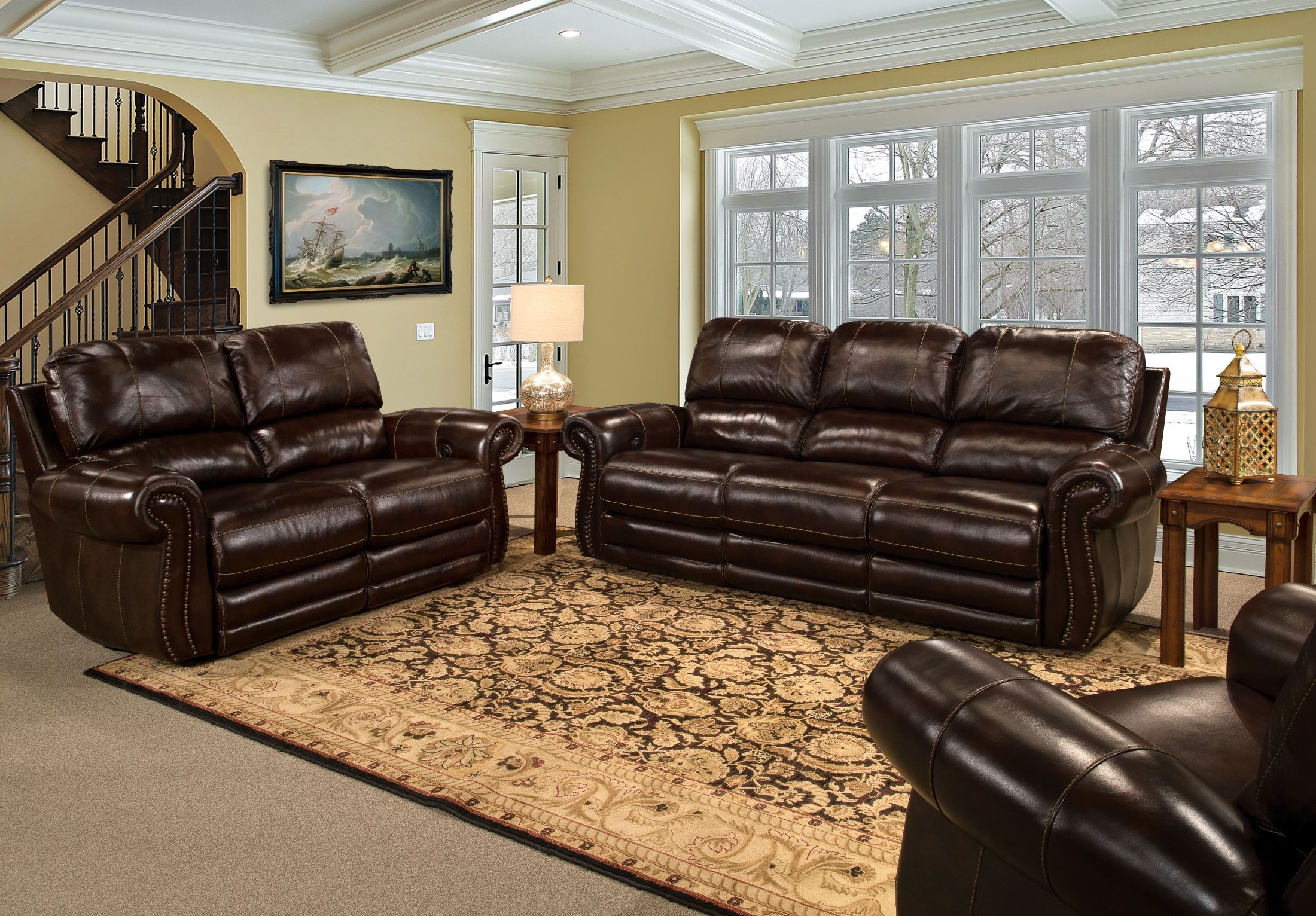 Thurston Havana Dual Power Reclining Living Room Set From Parker