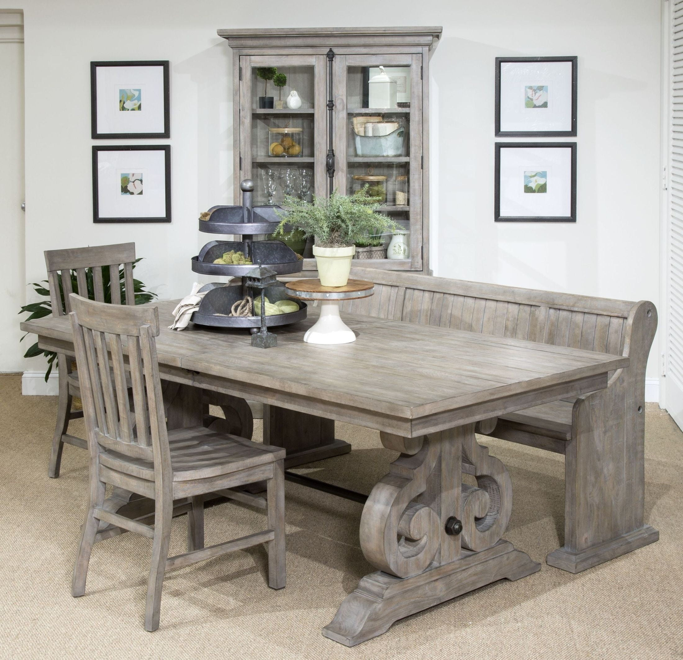 tinley park dove tail grey rectangular dining room set from magnussen home coleman furniture. Black Bedroom Furniture Sets. Home Design Ideas