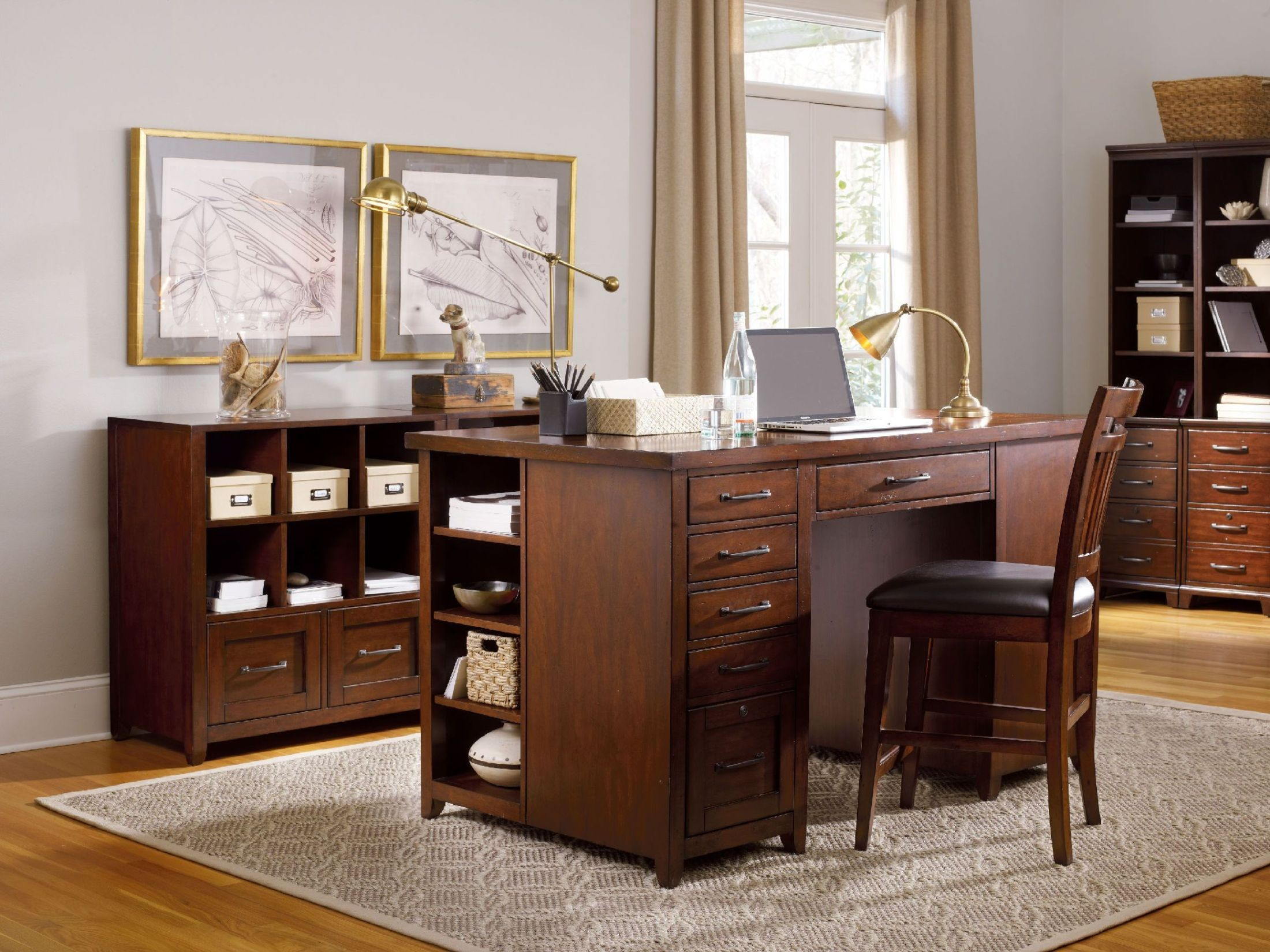 Wendover Utility Cherry Wendover Home Office Set From