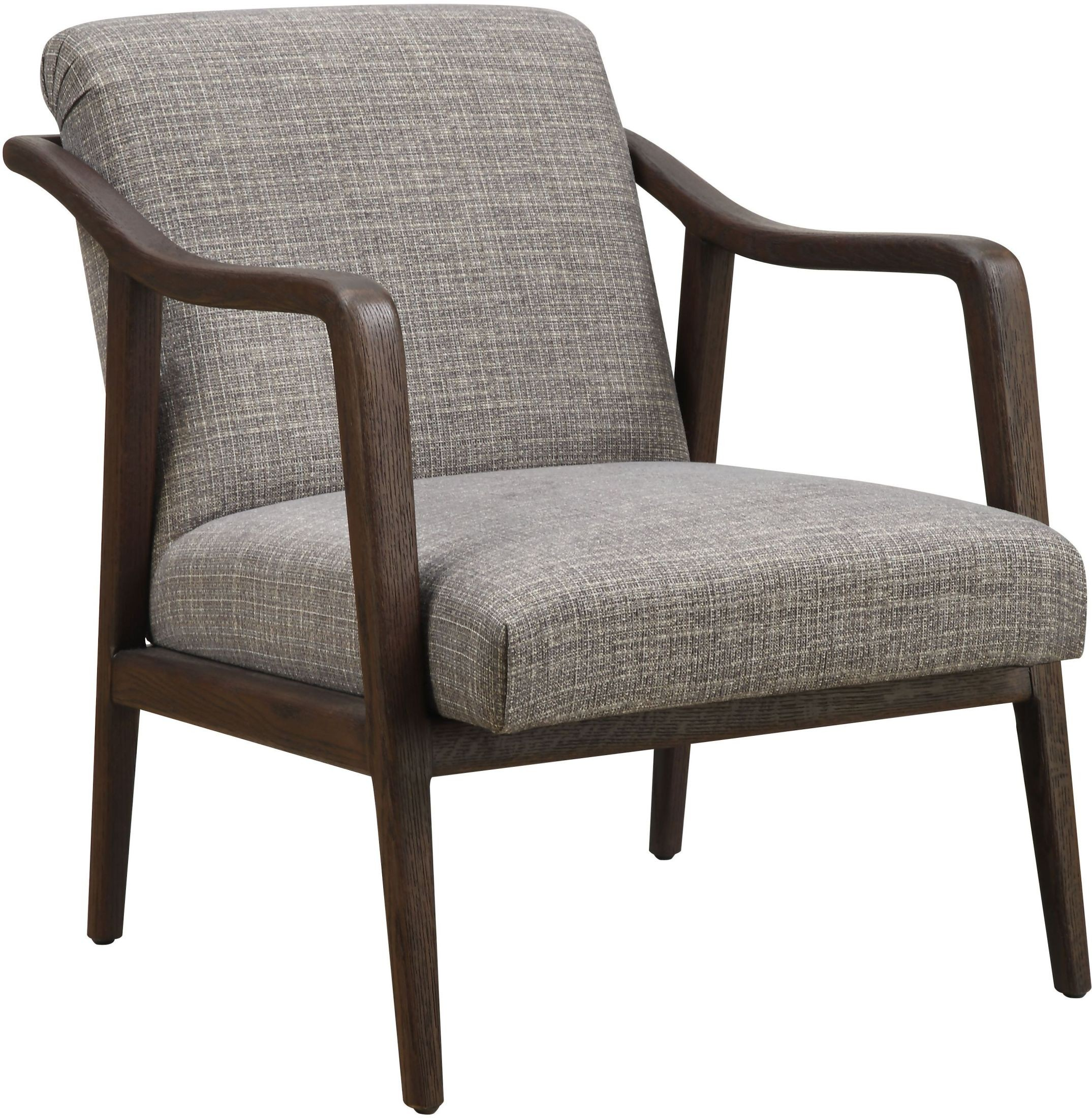 Branchdale Wood Frame Accent Chair: Mid Century Kendrick Driftwood Wood Frame Accent Chair