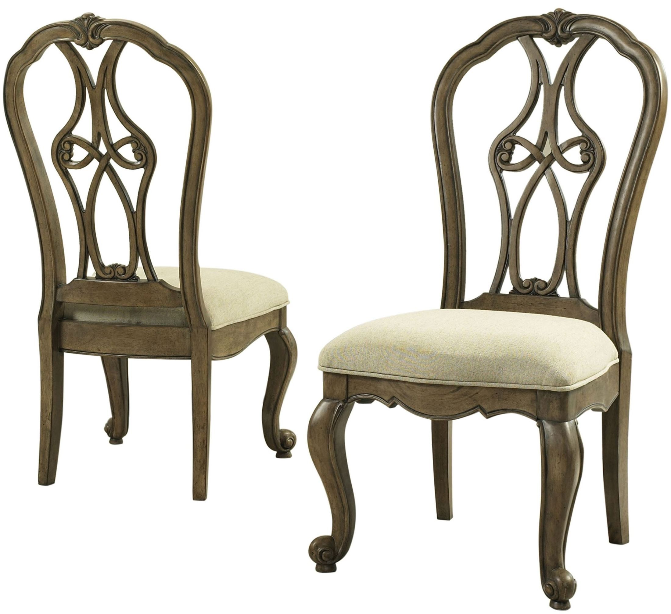 Pecan Wood Furniture Dining Room: Touraine French Glazed Pecan Round Dining Room Set, S4154