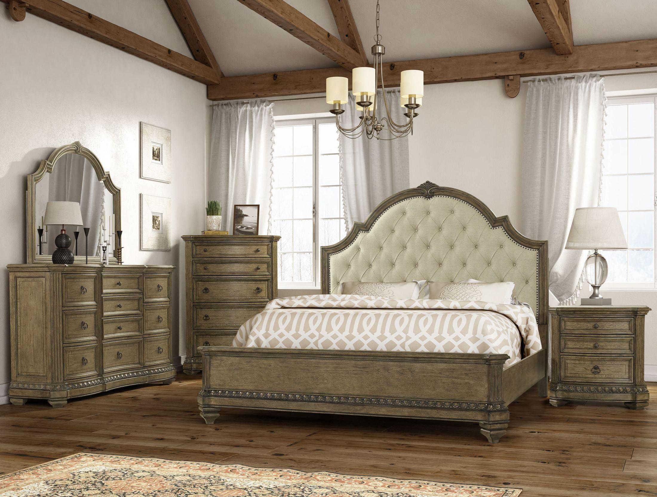 Touraine French Glazed Pecan Panel Bedroom Set from Fairmont ...
