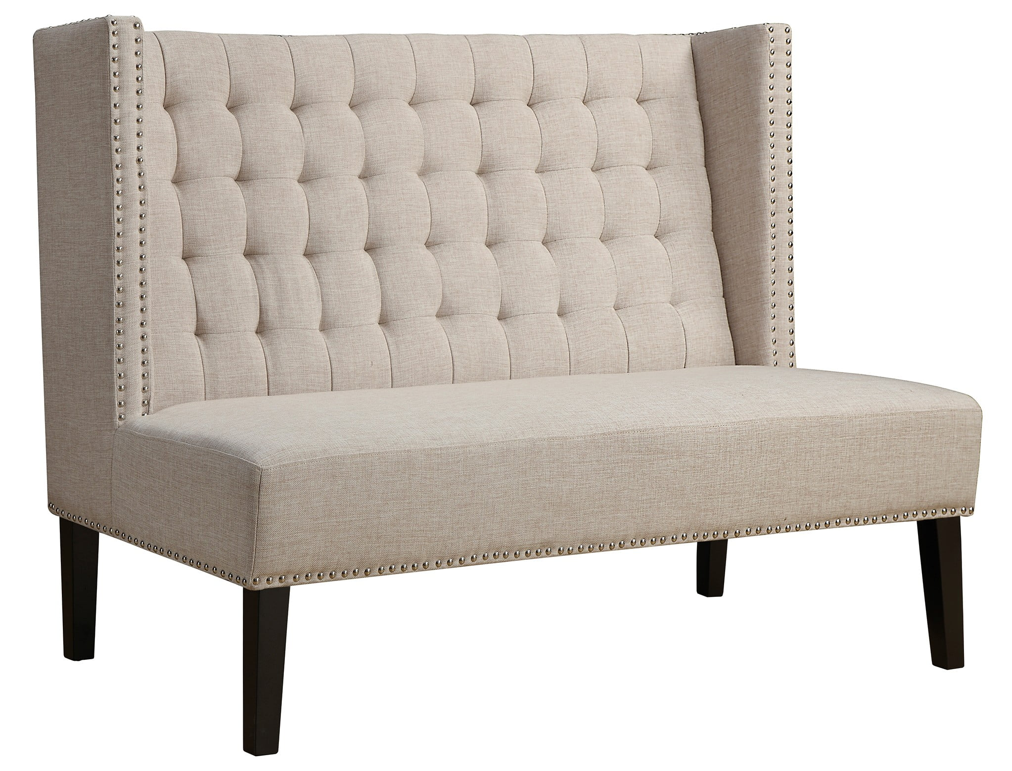 halifax beige linen banquette bench from tov tov 63114 beige coleman furniture. Black Bedroom Furniture Sets. Home Design Ideas