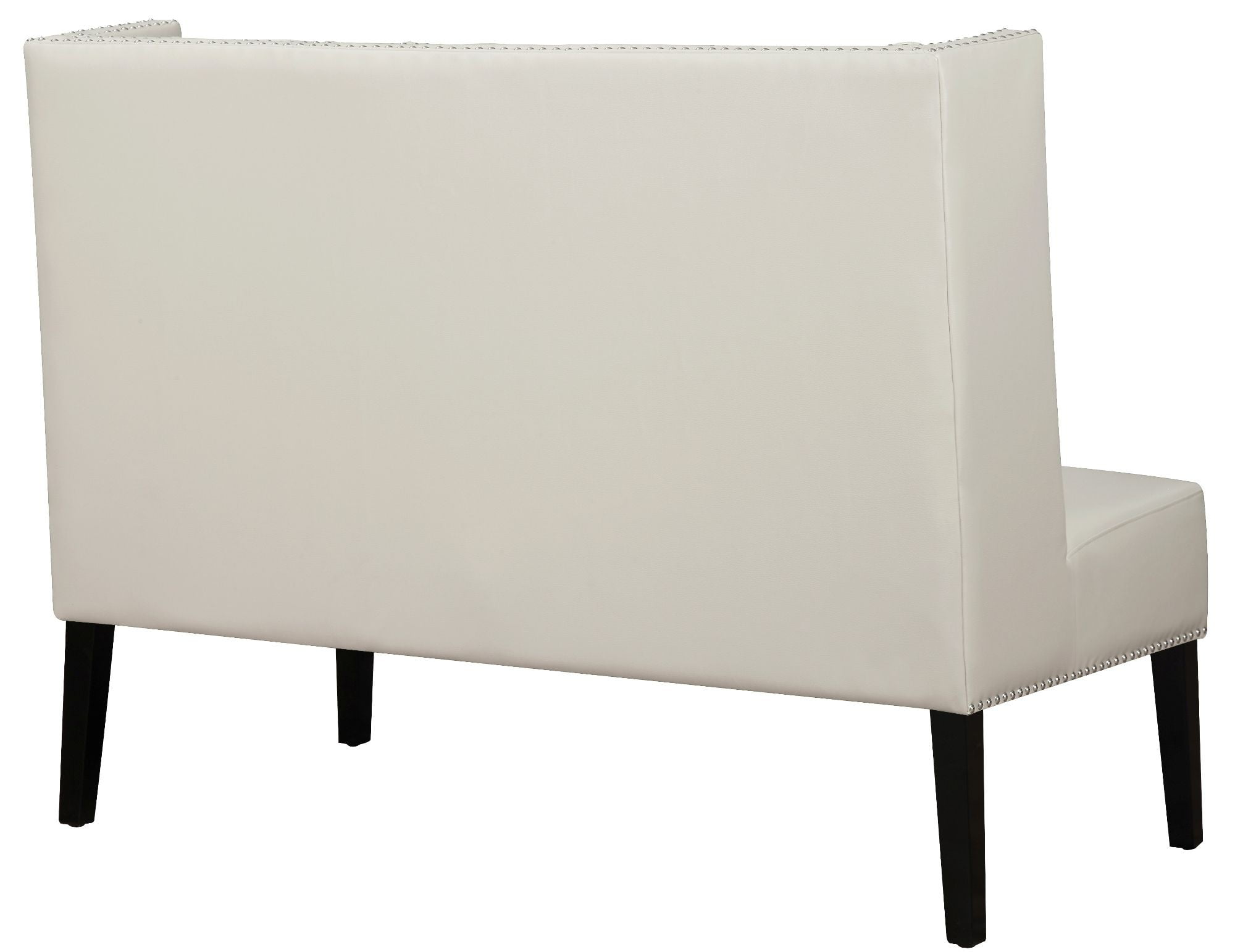 Halifax Cream Leather Banquette Bench from TOV Cream