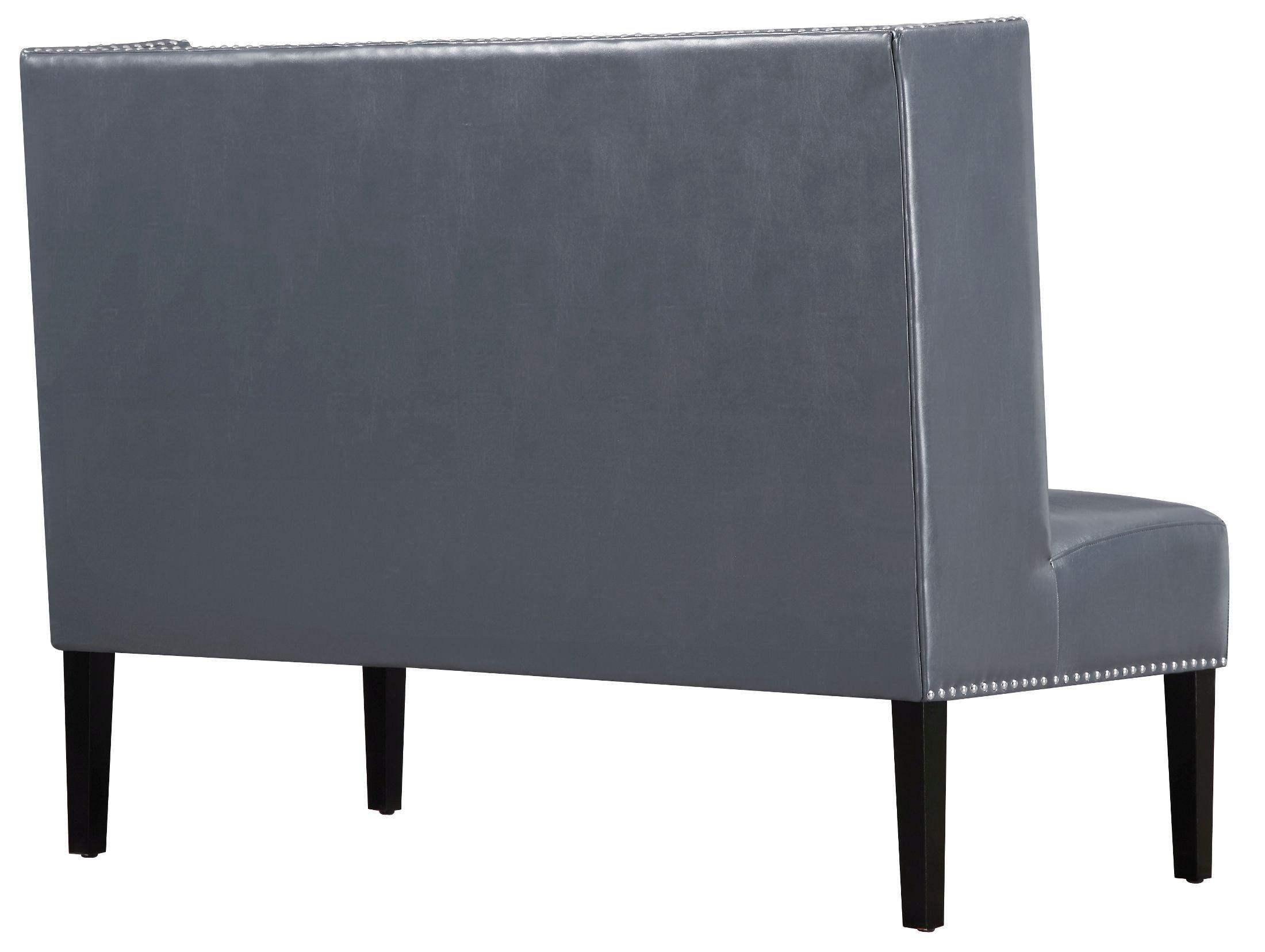 Halifax Gray Leather Banquette Bench From Tov Coleman