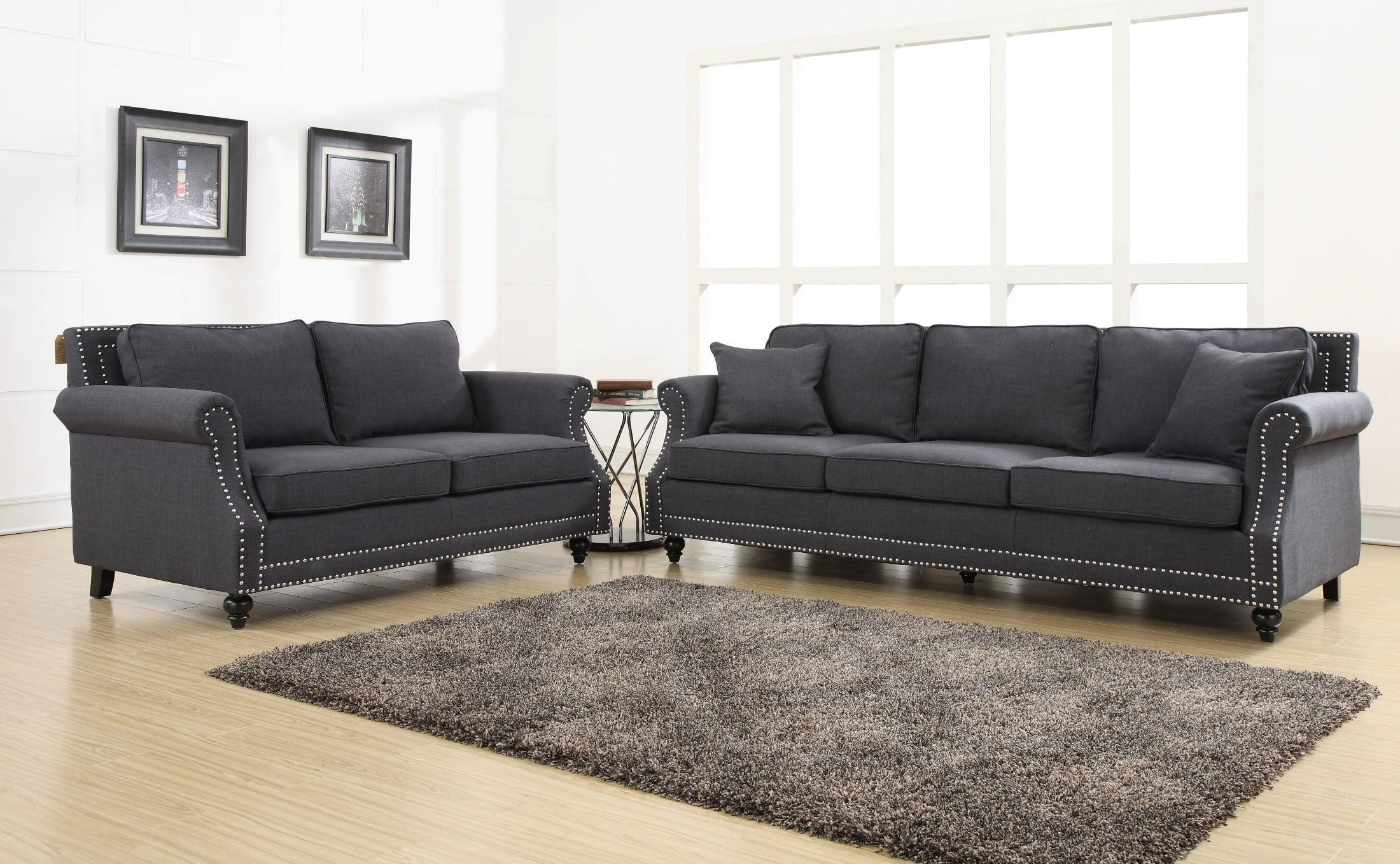 Wonderful Camden Grey Linen Sofa