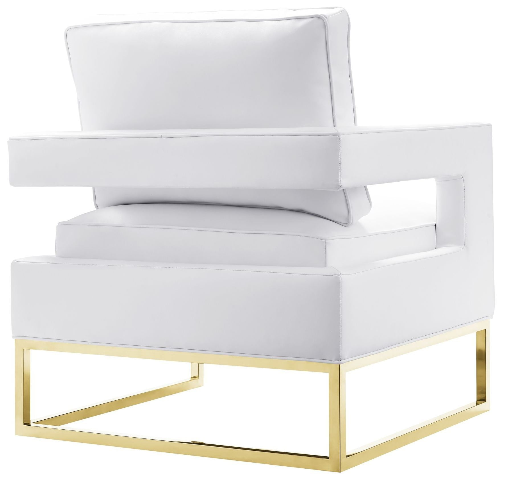 Avery White Leather Chair from TOV