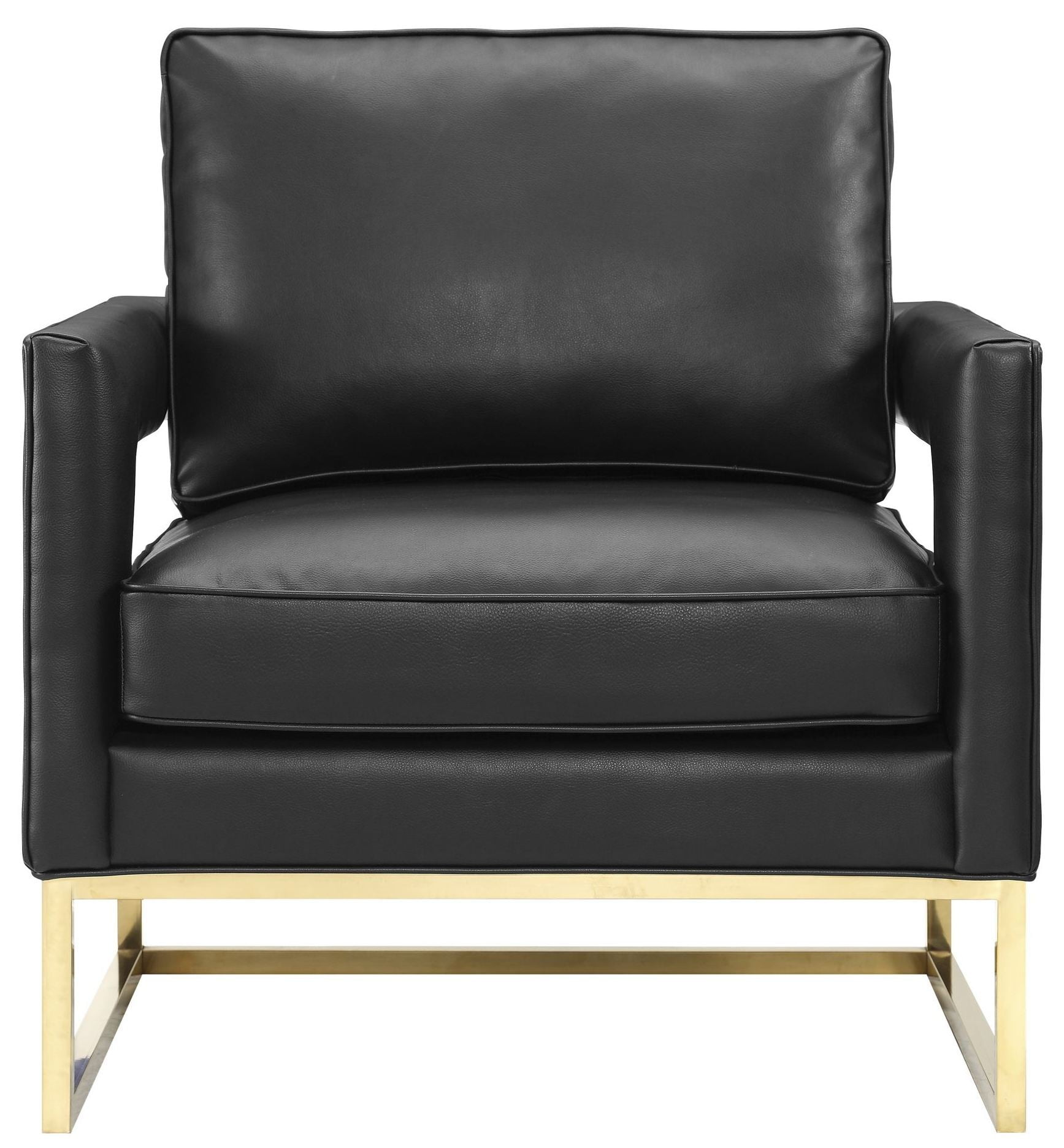 Avery Black Leather Chair From Tov Coleman Furniture
