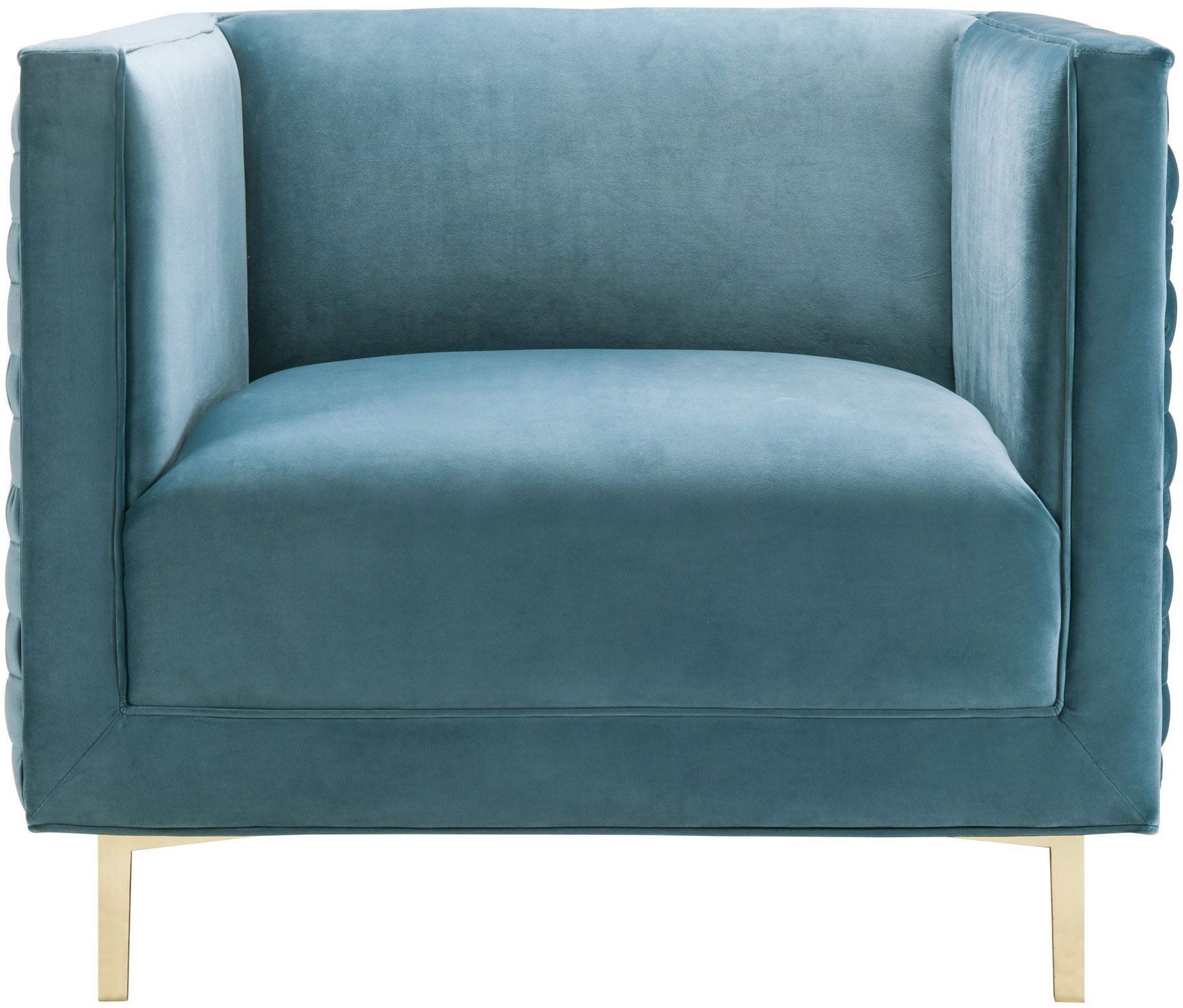 Sal Sea Blue Woven Chair from TOV