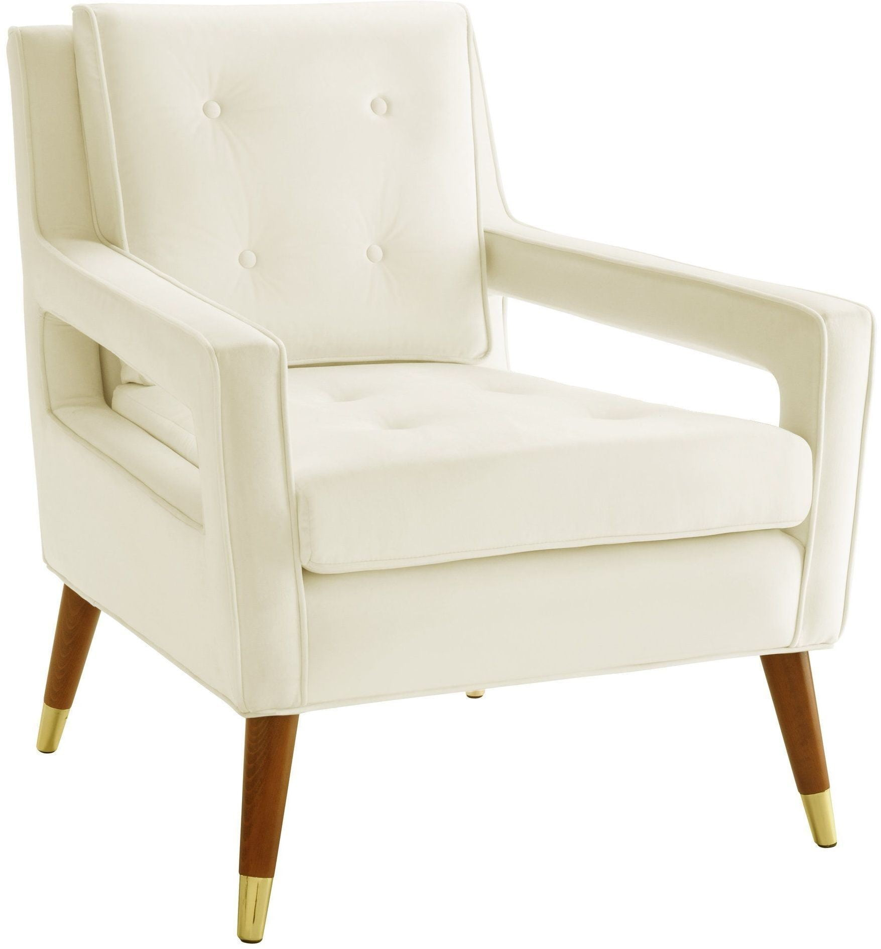 cream velvet armchair draper cream velvet chair from tov coleman furniture 13628 | tov a151 tov