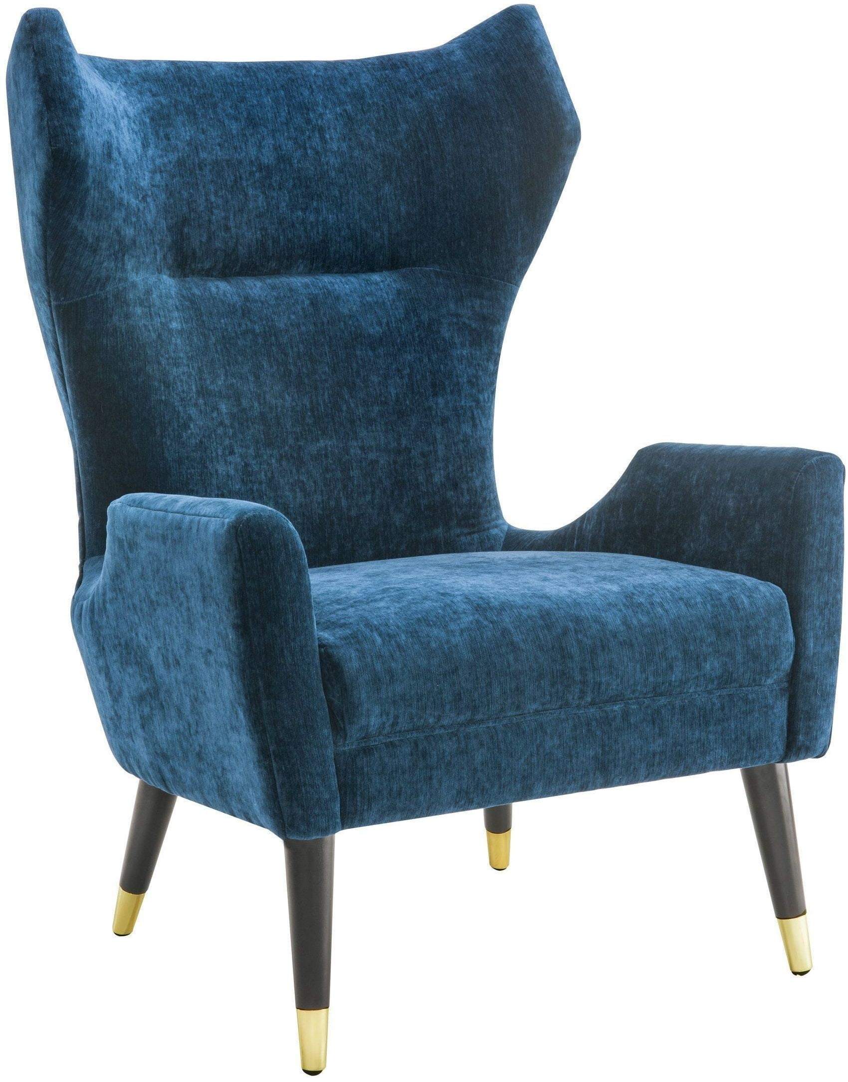 Logan Navy Velvet Chair from TOV