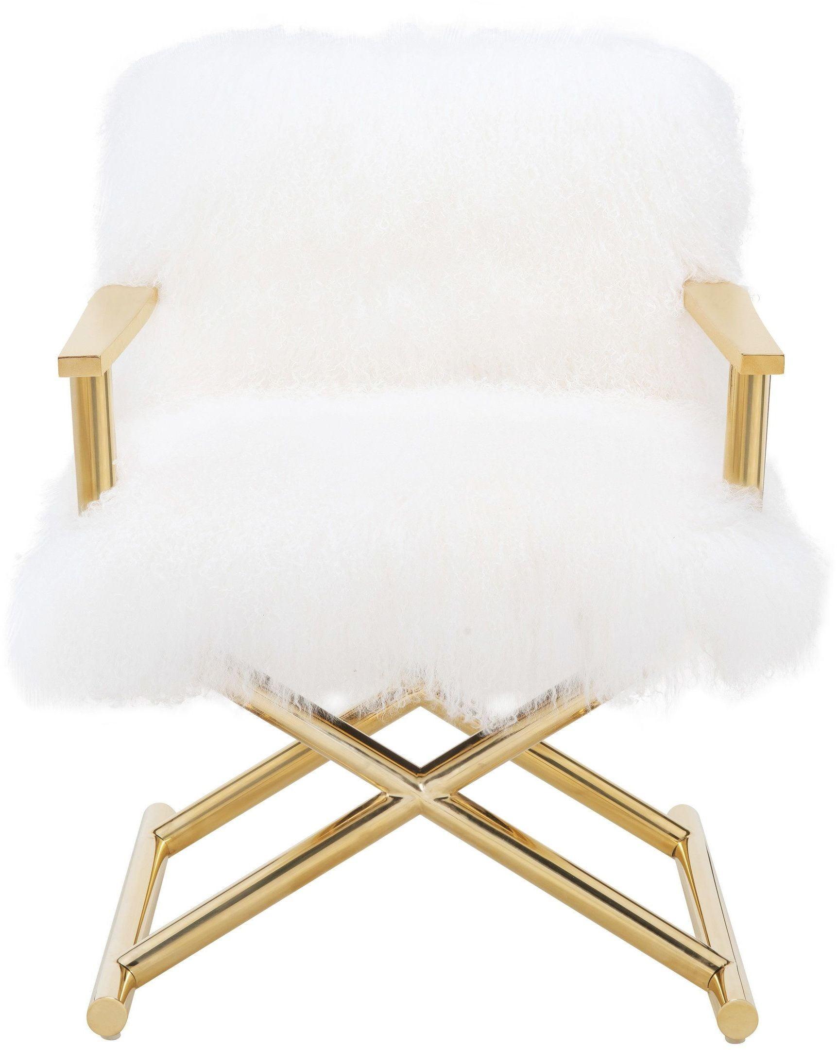 Jodi White Sheepskin Chair from TOV